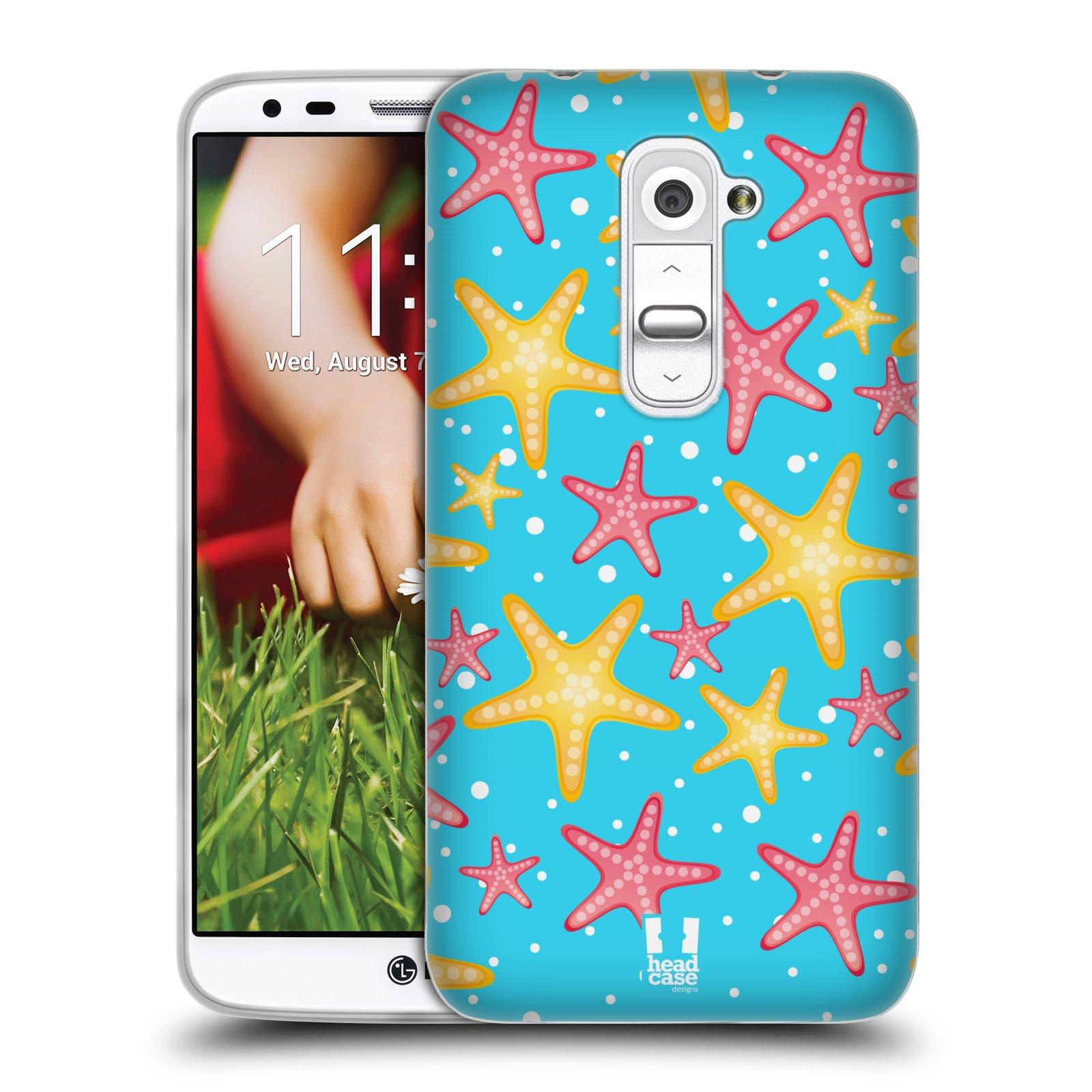 HEAD CASE silikonový obal na mobil LG G2 vzor mořský živočich hvězda