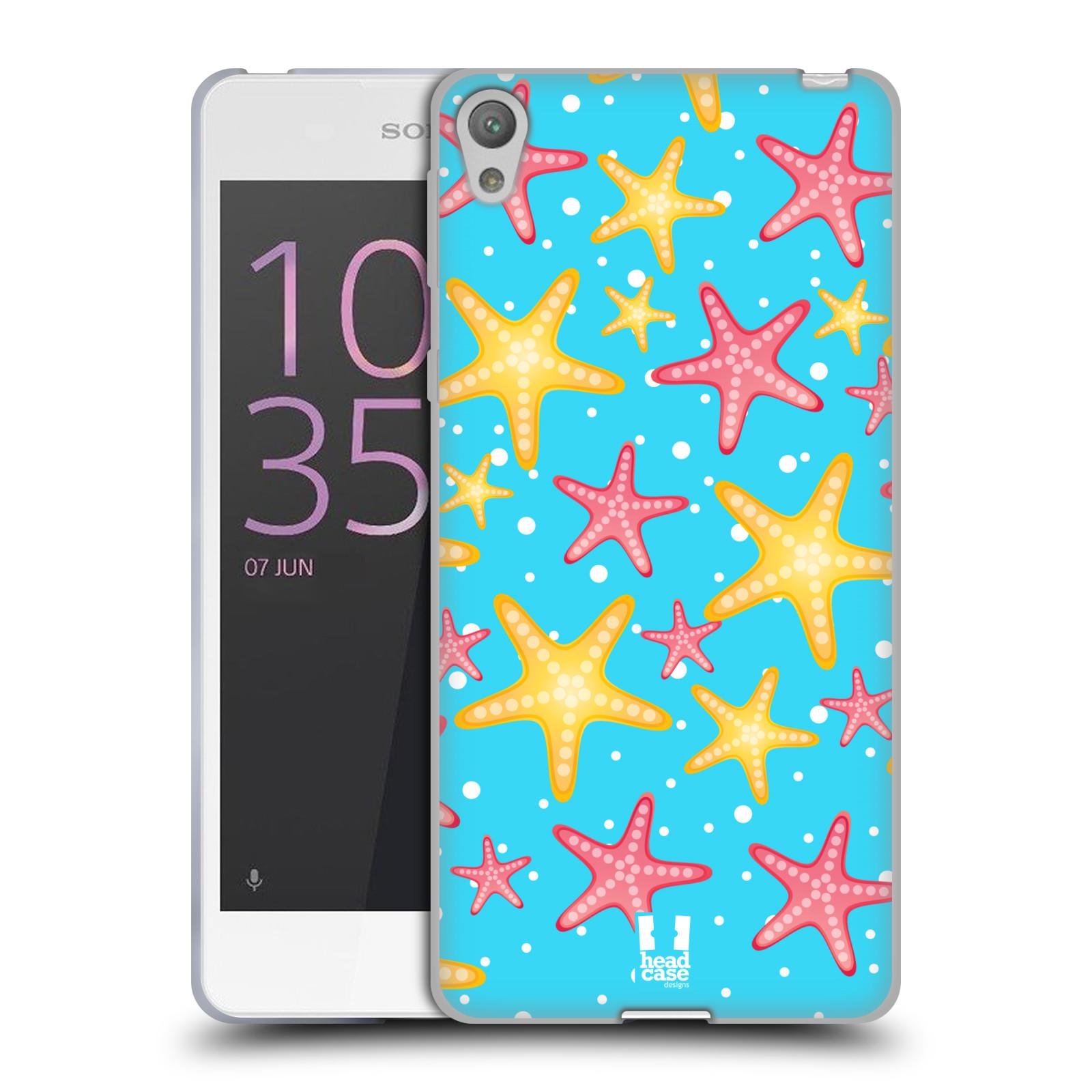HEAD CASE silikonový obal na mobil SONY XPERIA E5 vzor mořský živočich hvězda