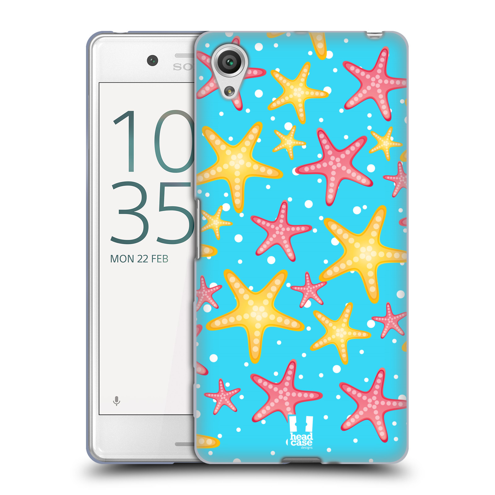HEAD CASE silikonový obal na mobil Sony Xperia X PERFORMANCE (F8131, F8132) vzor mořský živočich hvězda
