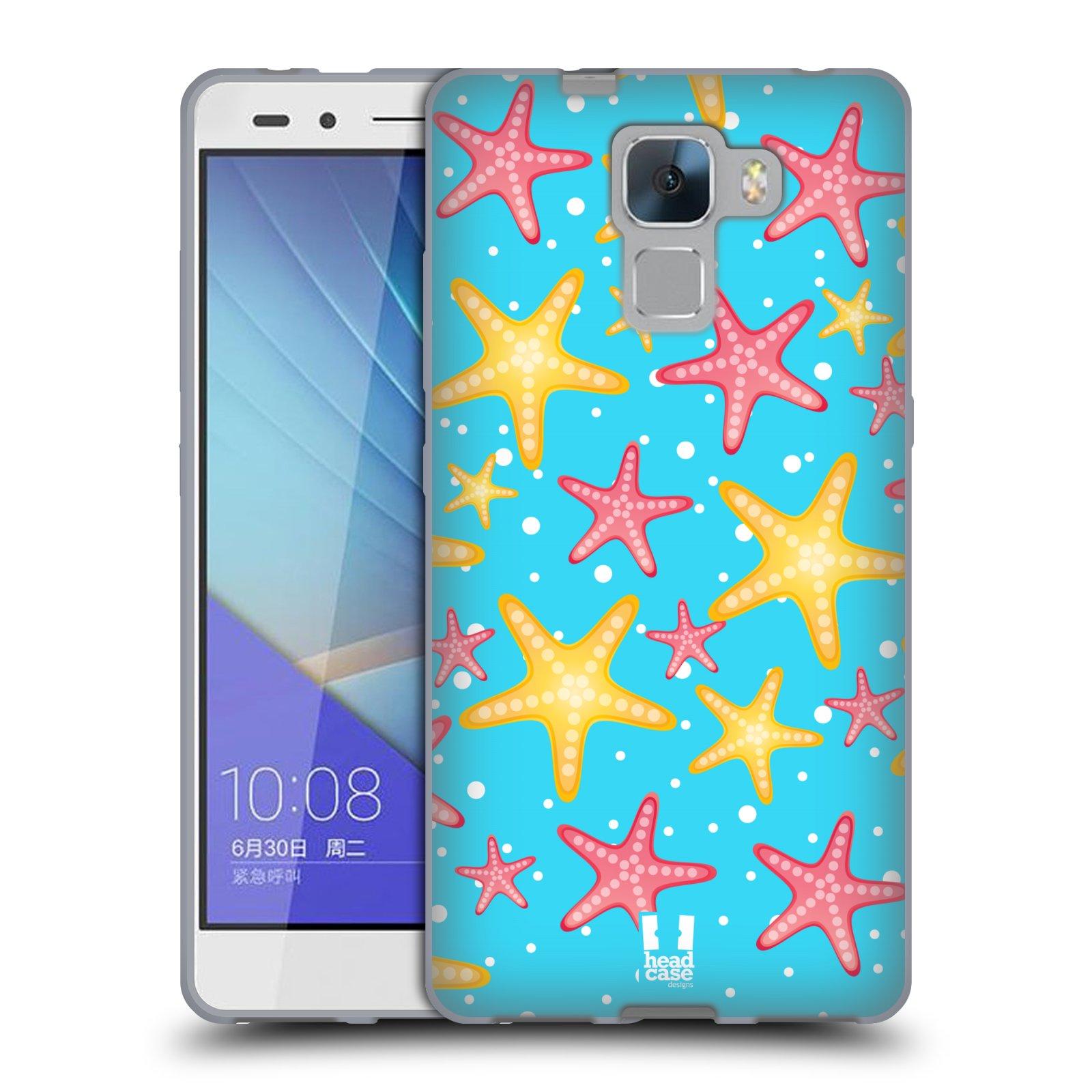 HEAD CASE silikonový obal na mobil HUAWEI HONOR 7 vzor mořský živočich hvězda