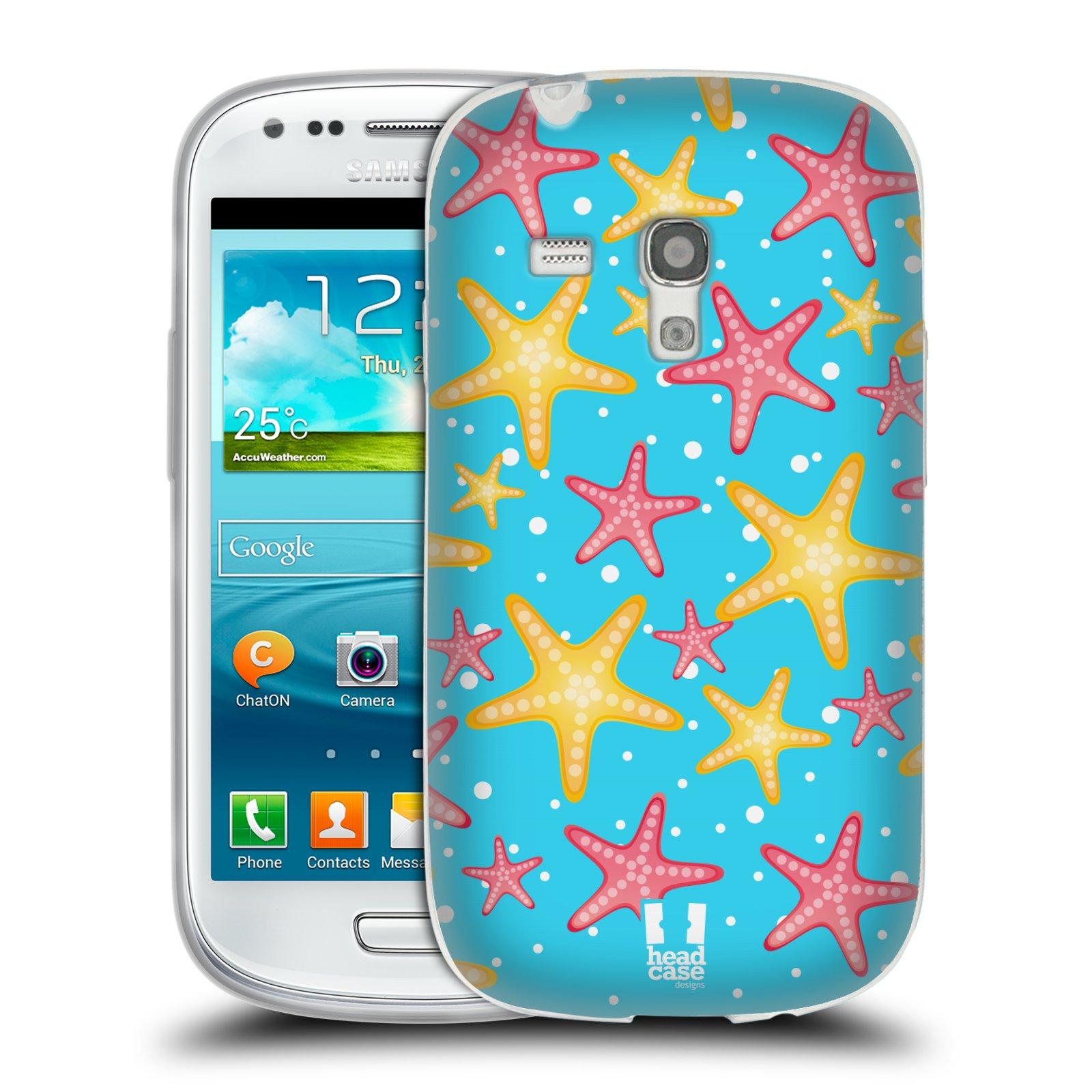 HEAD CASE silikonový obal na mobil Samsung Galaxy S3 MINI i8190 vzor mořský živočich hvězda