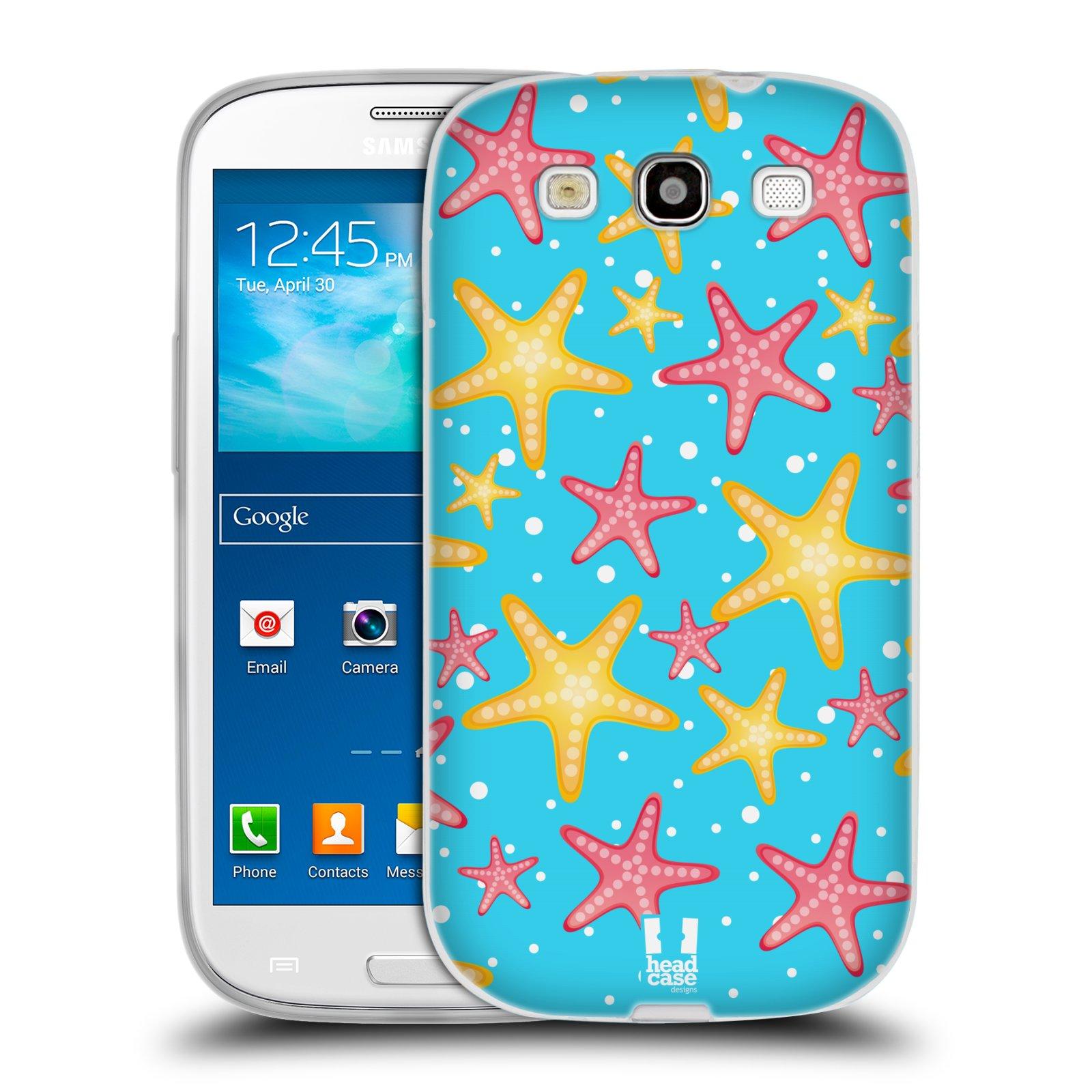 HEAD CASE silikonový obal na mobil Samsung Galaxy S3 i9300 vzor mořský živočich hvězda