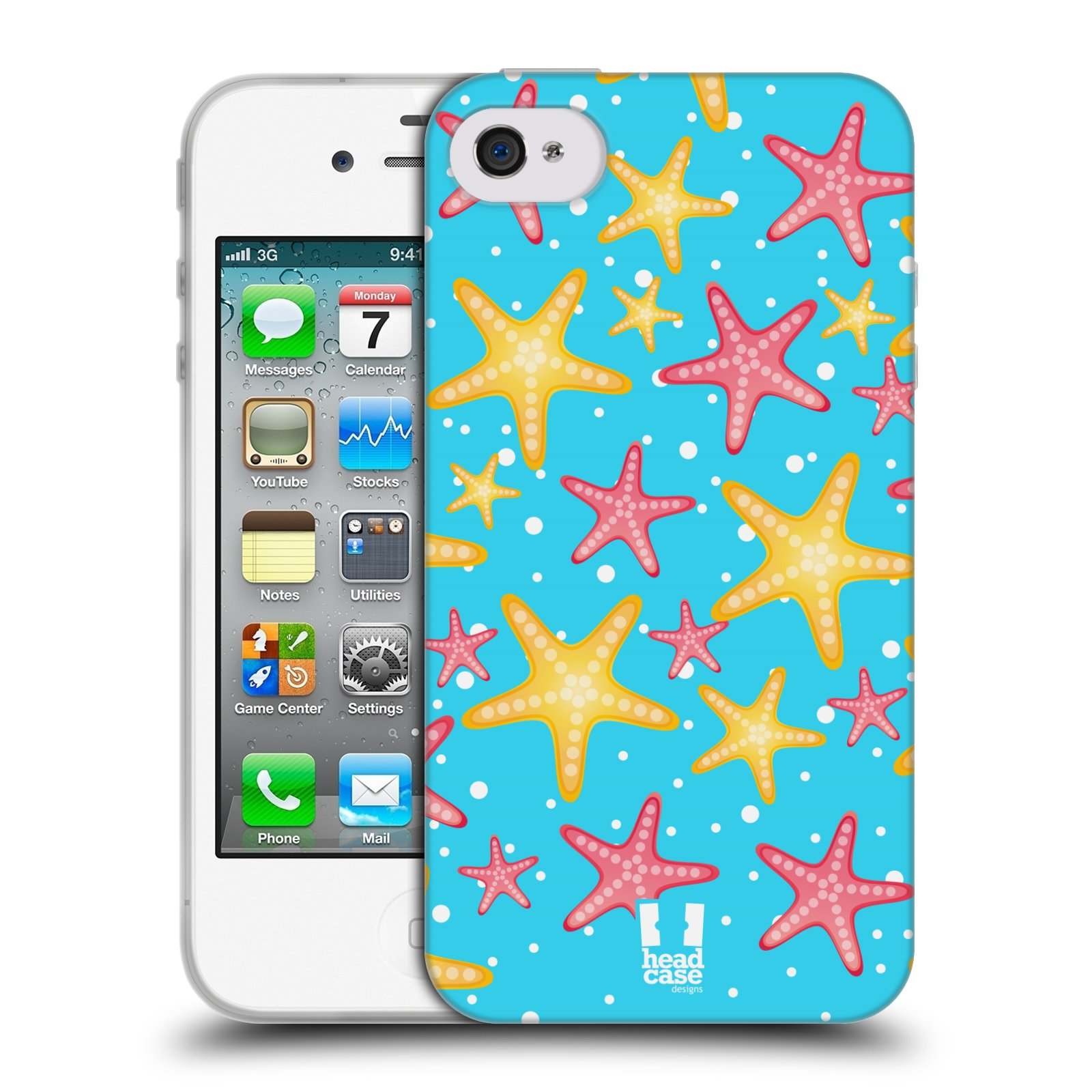 HEAD CASE silikonový obal na mobil Apple Iphone 4/4S vzor mořský živočich hvězda