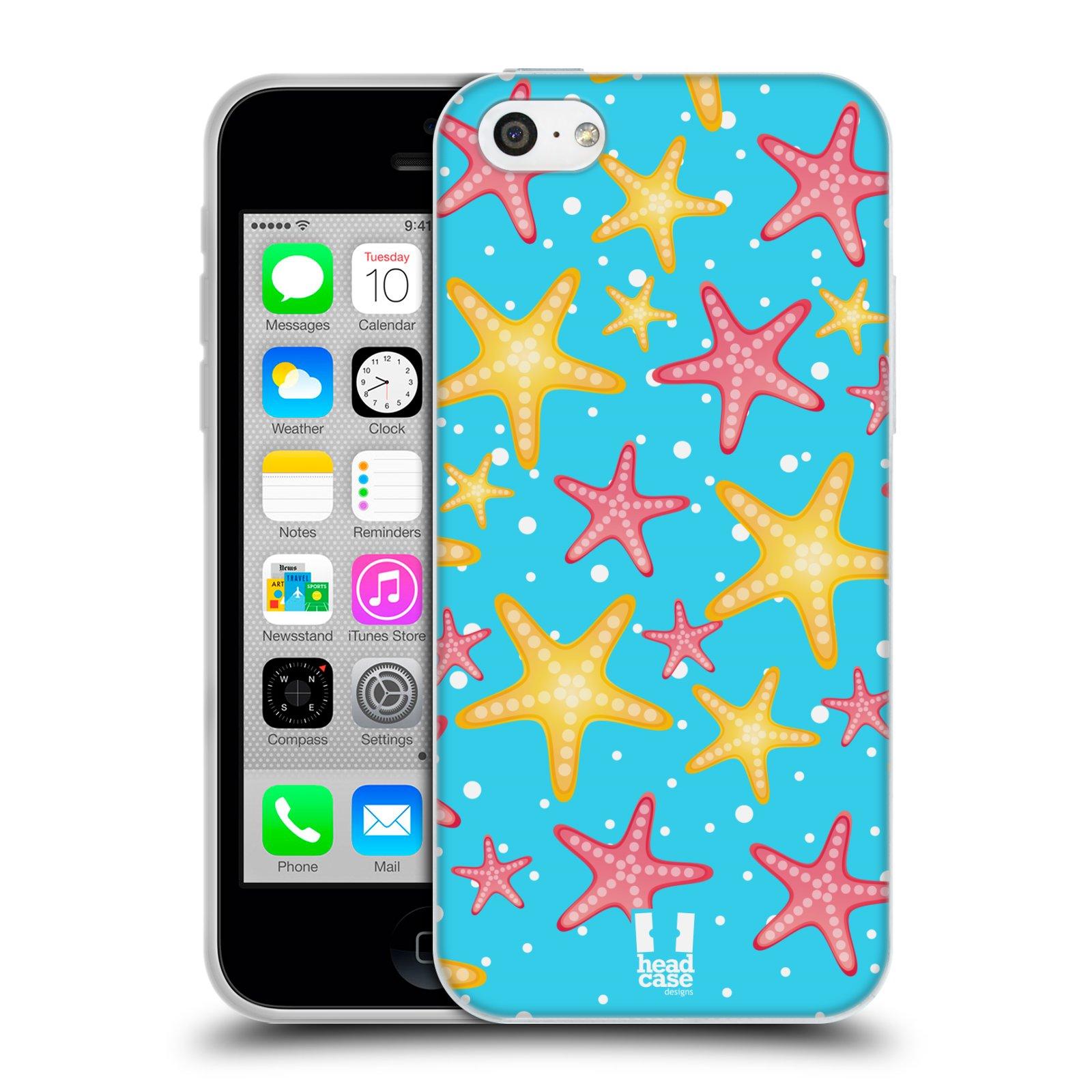 HEAD CASE silikonový obal na mobil Apple Iphone 5C vzor mořský živočich hvězda
