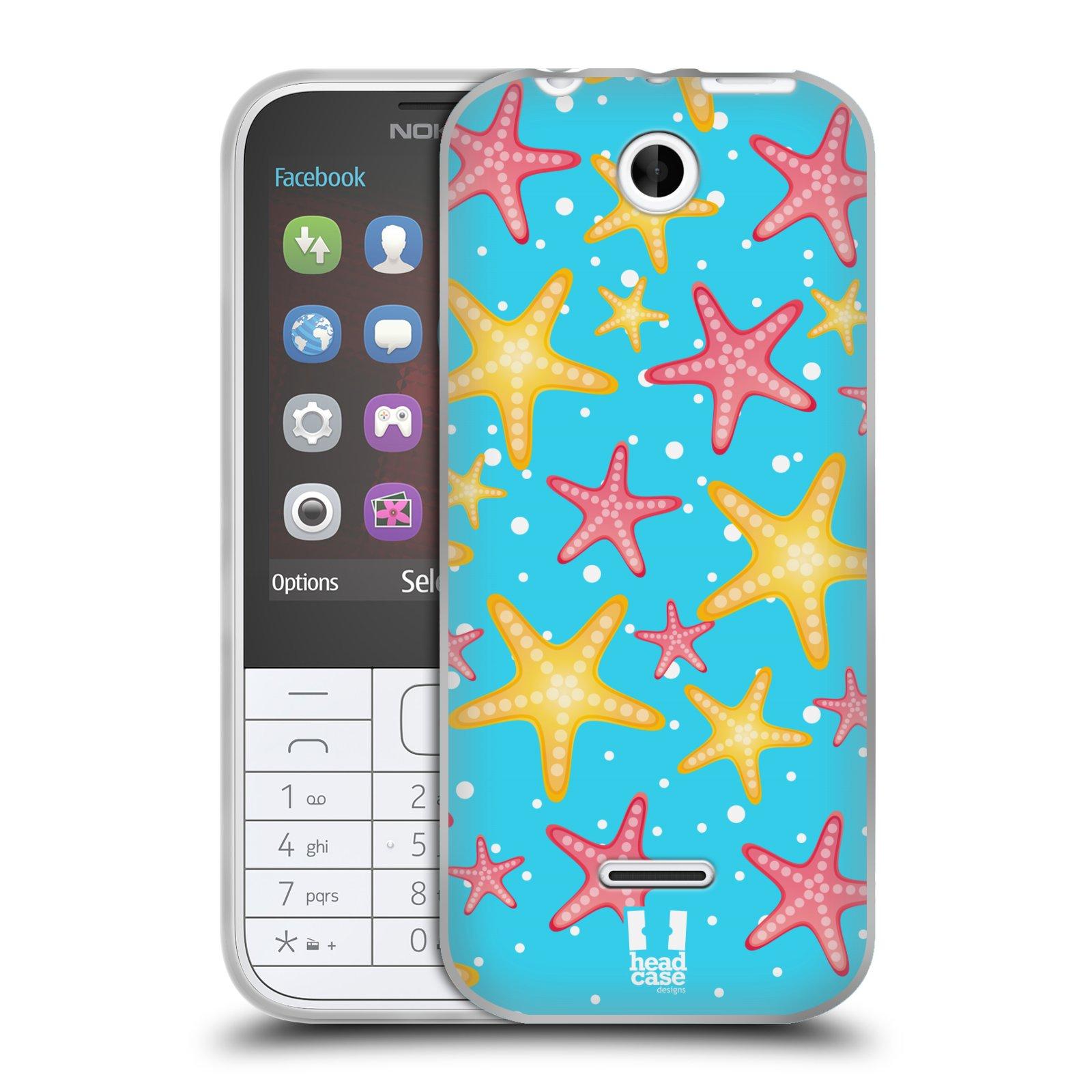 HEAD CASE silikonový obal na mobil NOKIA 225 / NOKIA 225 DUAL SIM vzor mořský živočich hvězda