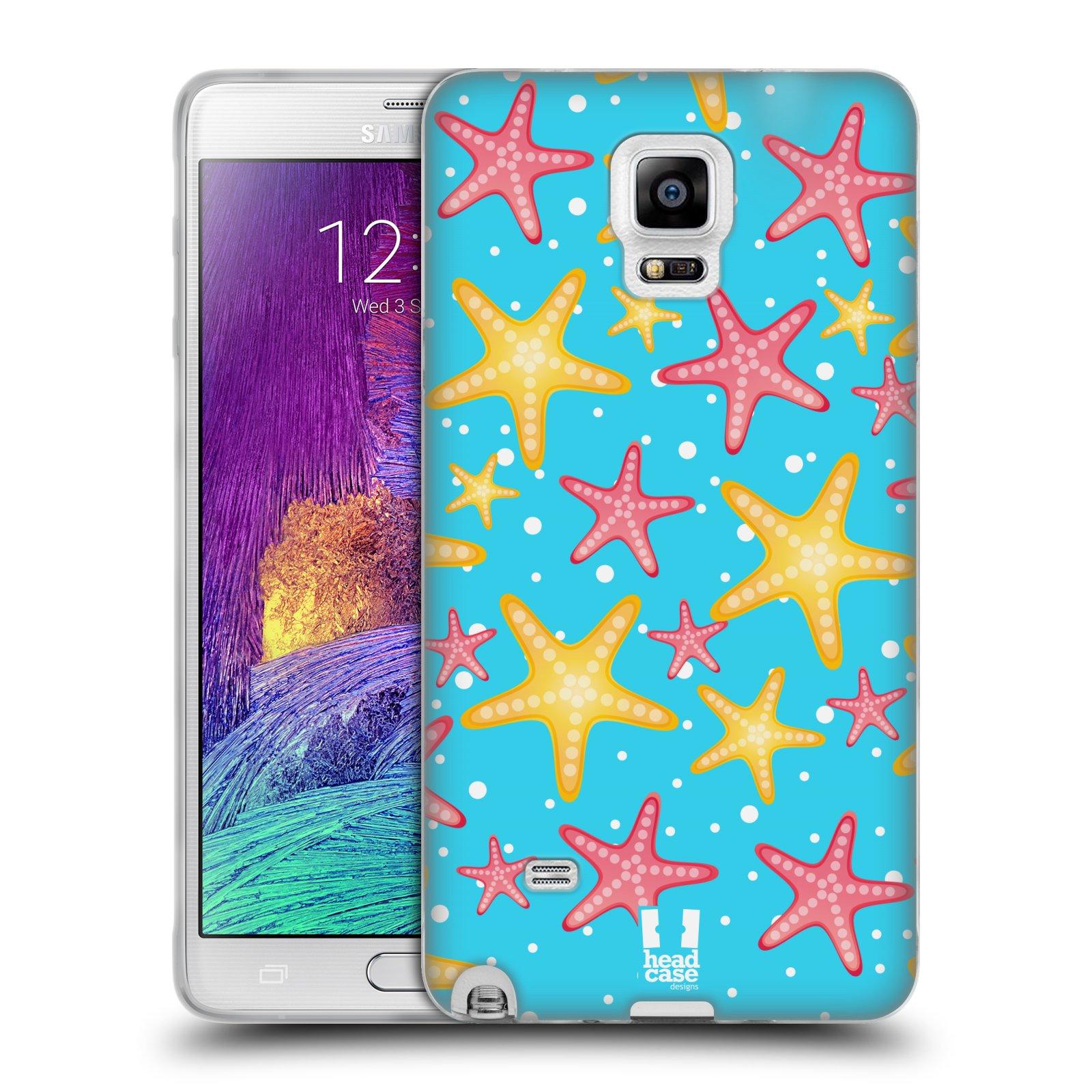 HEAD CASE silikonový obal na mobil Samsung Galaxy Note 4 (N910) vzor mořský živočich hvězda