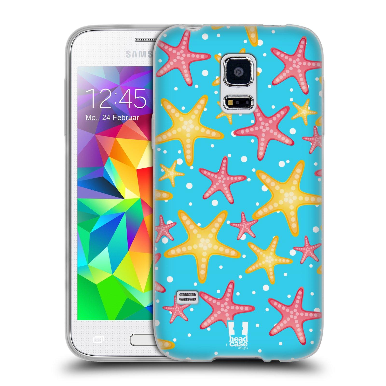 HEAD CASE silikonový obal na mobil Samsung Galaxy S5 MINI vzor mořský živočich hvězda