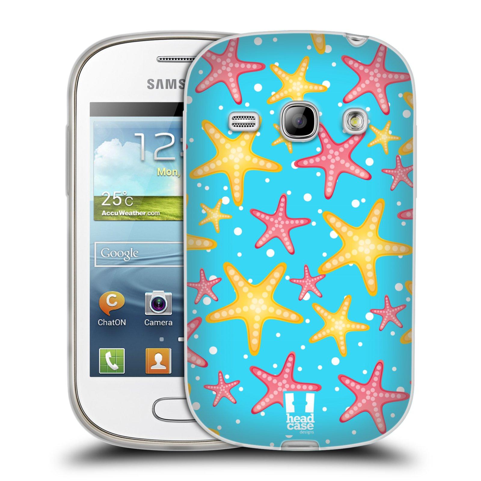 HEAD CASE silikonový obal na mobil Samsung Galaxy FAME vzor mořský živočich hvězda