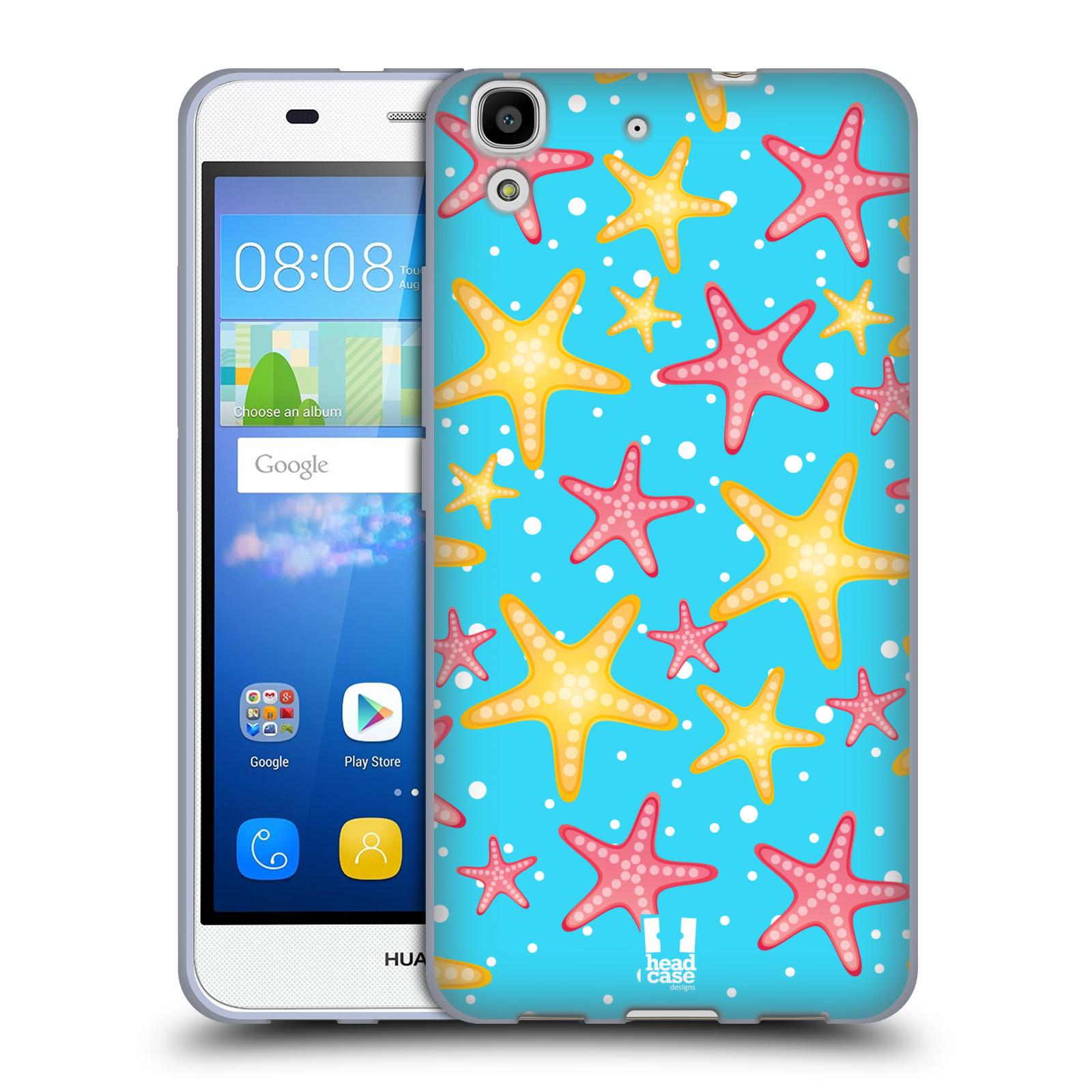 HEAD CASE silikonový obal na mobil HUAWEI Y6 vzor mořský živočich hvězda