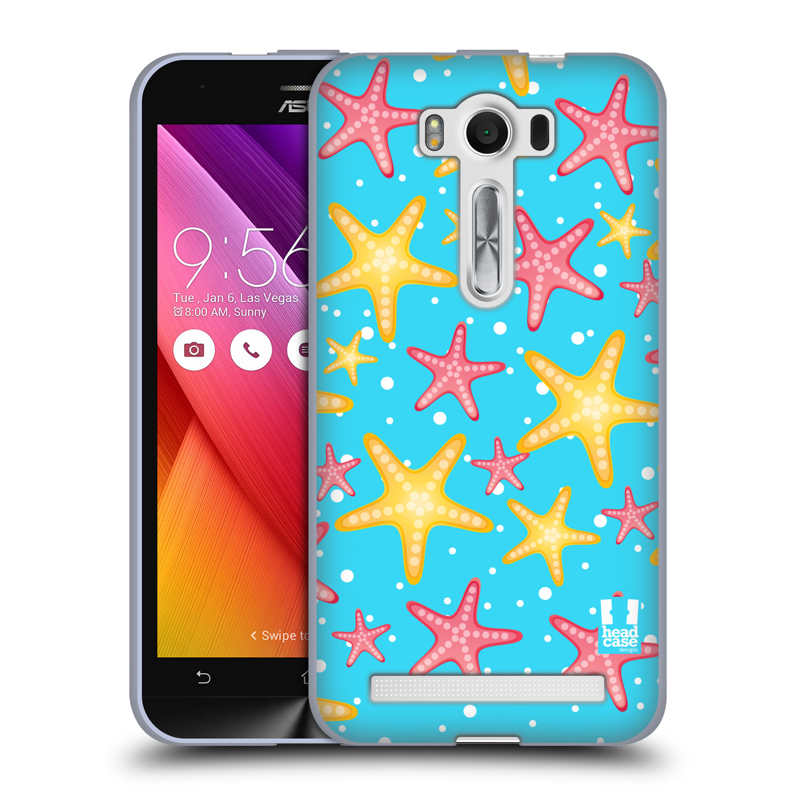 """HEAD CASE silikonový obal na mobil Asus Zenfone 2 LASER (ZE500KL s 5"""" displejem) vzor mořský živočich hvězda"""