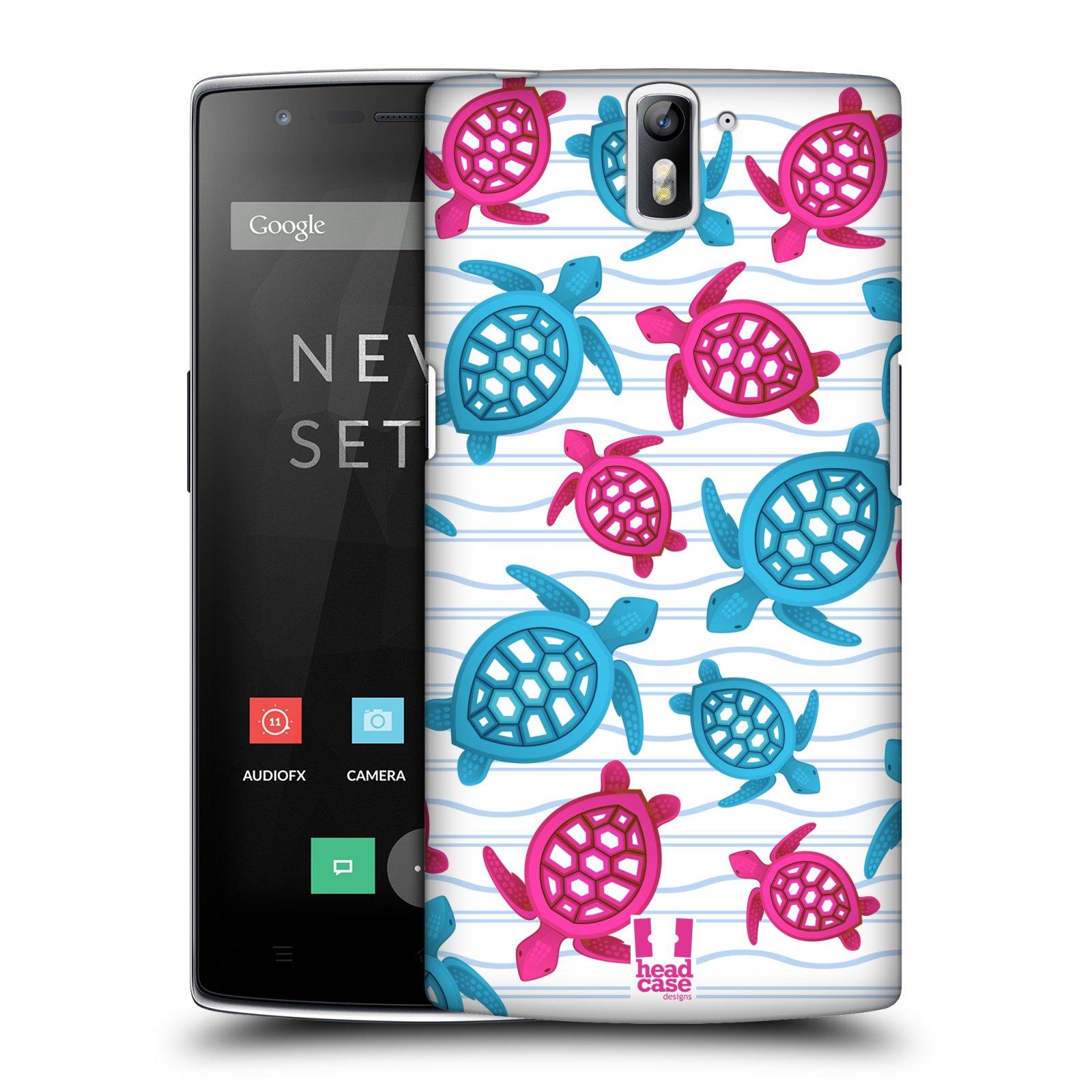 HEAD CASE pevný plastový obal na mobil OnePlus ONE vzor mořský živočich želva modrá a růžová