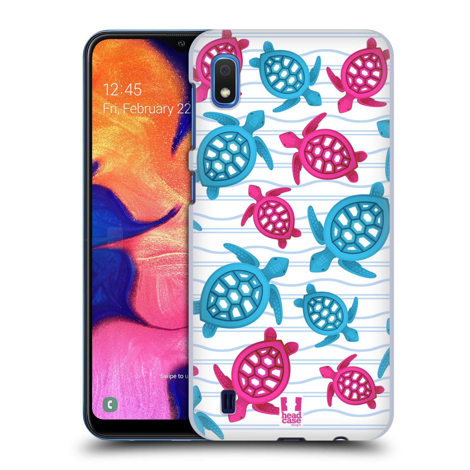 Pouzdro na mobil Samsung Galaxy A10 - HEAD CASE - vzor mořský živočich želva modrá a růžová