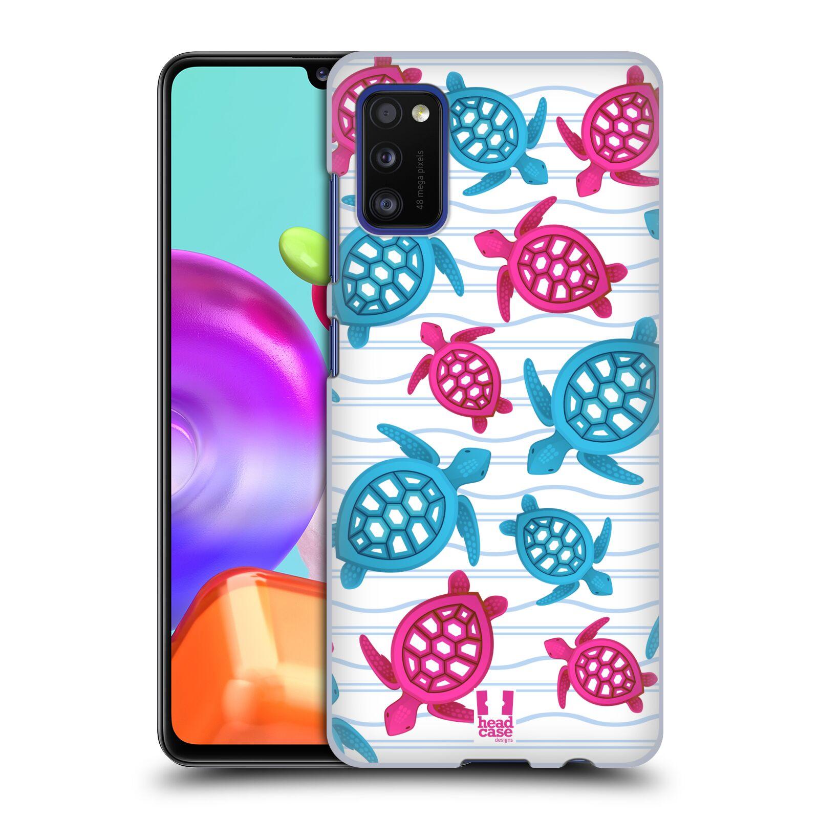 Zadní kryt na mobil Samsung Galaxy A41 vzor mořský živočich želva modrá a růžová