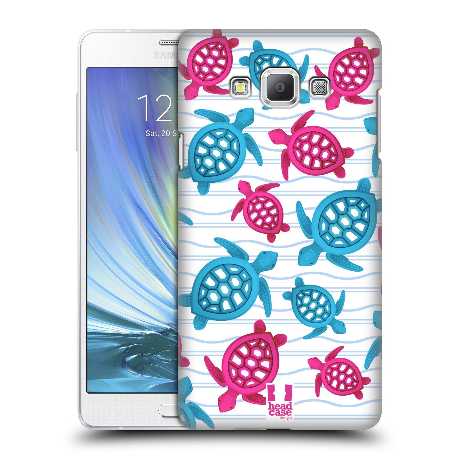 HEAD CASE plastový obal na mobil SAMSUNG GALAXY A7 vzor mořský živočich želva modrá a růžová