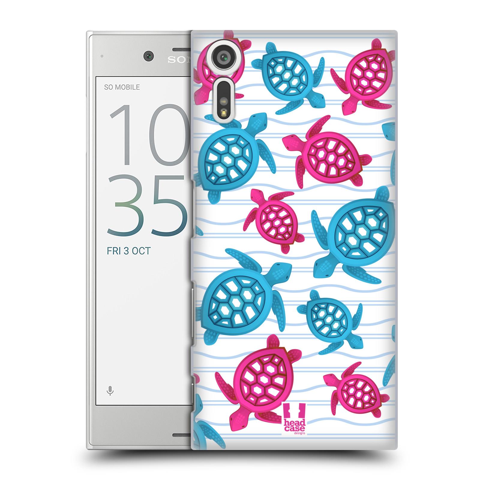 HEAD CASE plastový obal na mobil Sony Xperia XZ vzor mořský živočich želva modrá a růžová