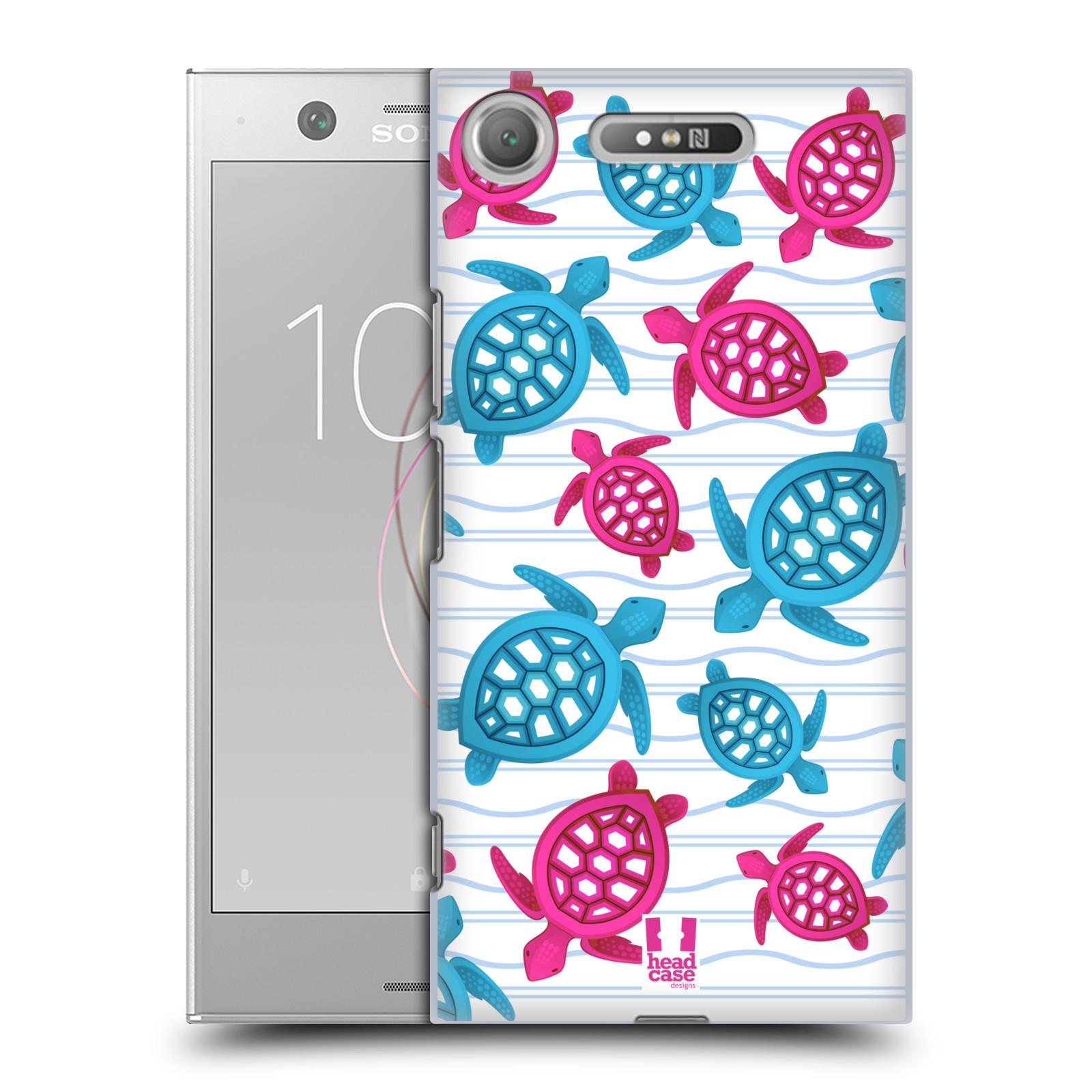 HEAD CASE plastový obal na mobil Sony Xperia XZ1 vzor mořský živočich želva modrá a růžová