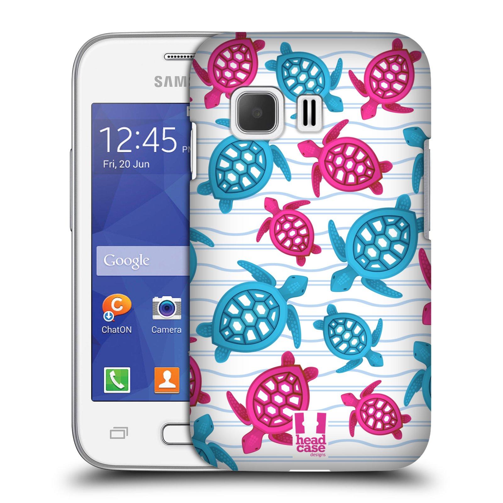 HEAD CASE plastový obal na mobil SAMSUNG Galaxy Young 2 (G130) vzor mořský živočich želva modrá a růžová