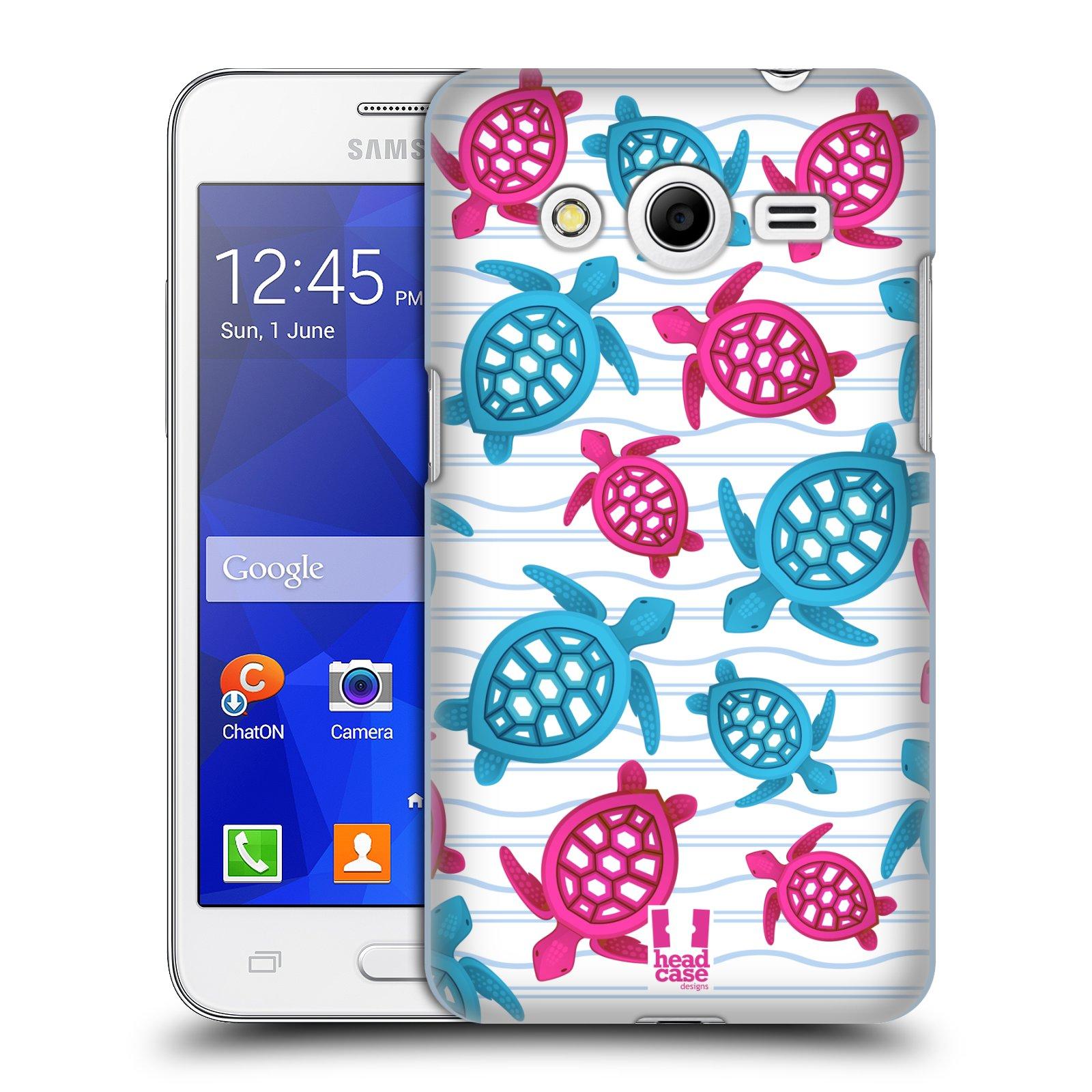 HEAD CASE plastový obal na mobil SAMSUNG GALAXY Core 2 (G355H) vzor mořský živočich želva modrá a růžová