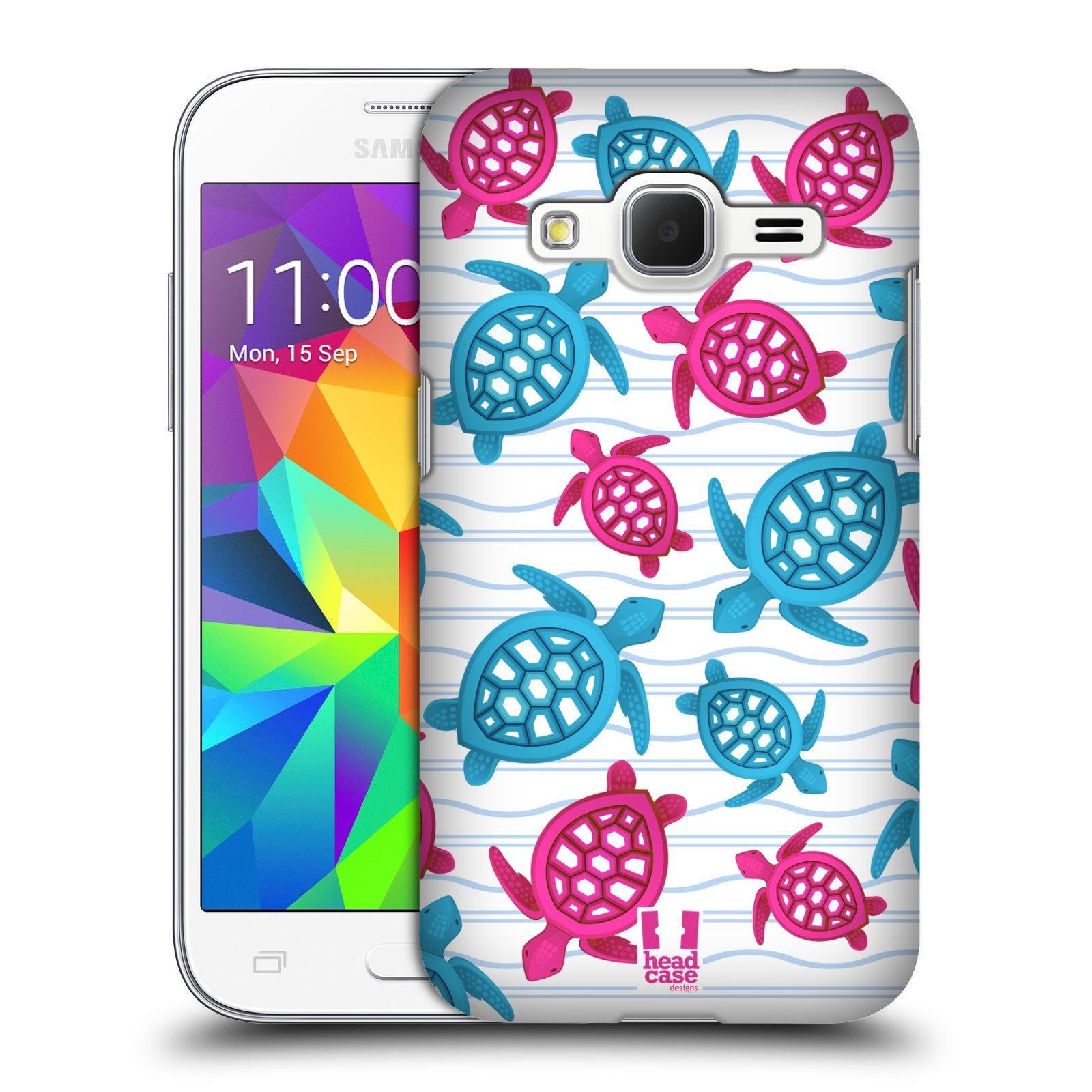 HEAD CASE plastový obal na mobil SAMSUNG GALAXY Core Prime (Core Prime VE) vzor mořský živočich želva modrá a růžová