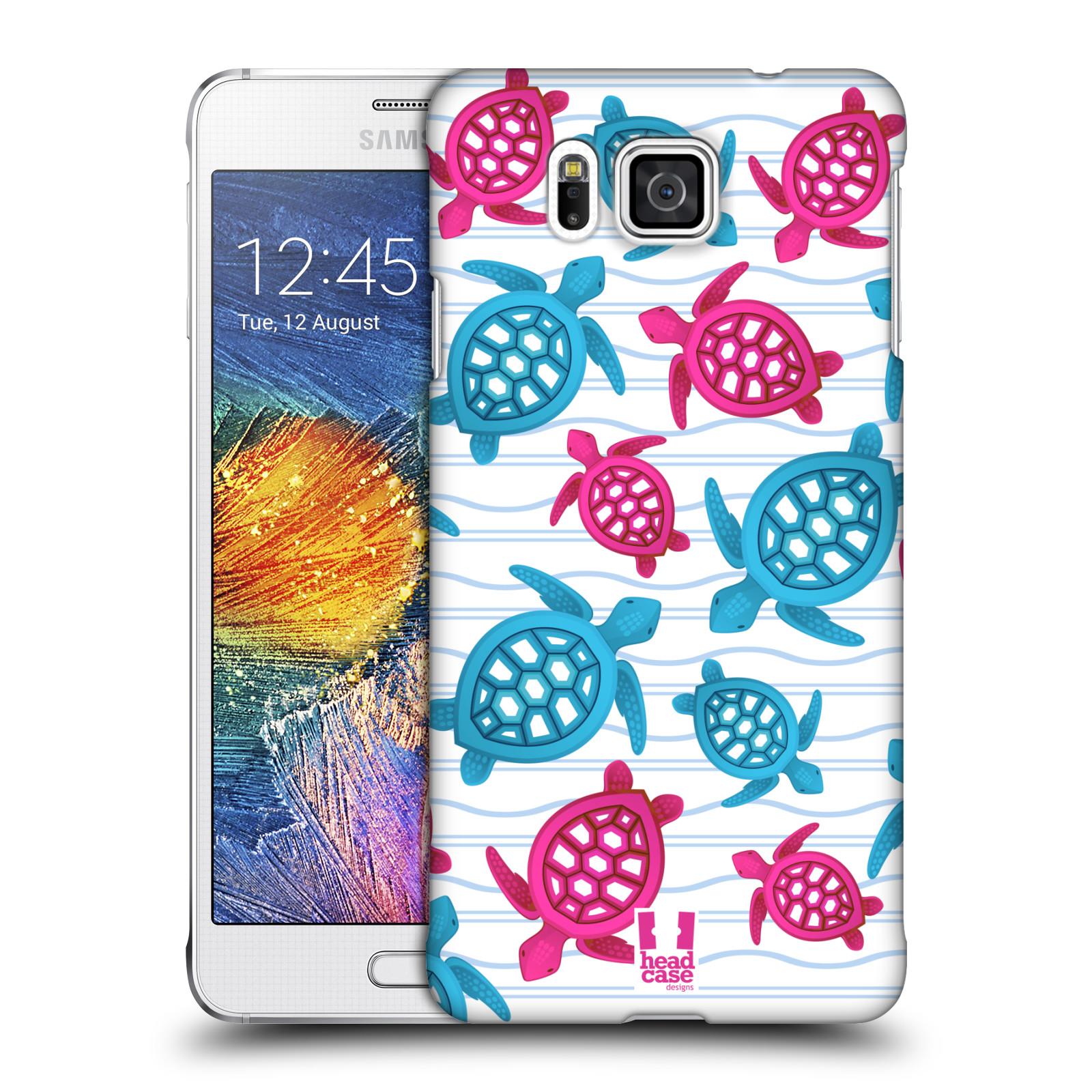 HEAD CASE plastový obal na mobil SAMSUNG Galaxy Alpha (G850) vzor mořský živočich želva modrá a růžová
