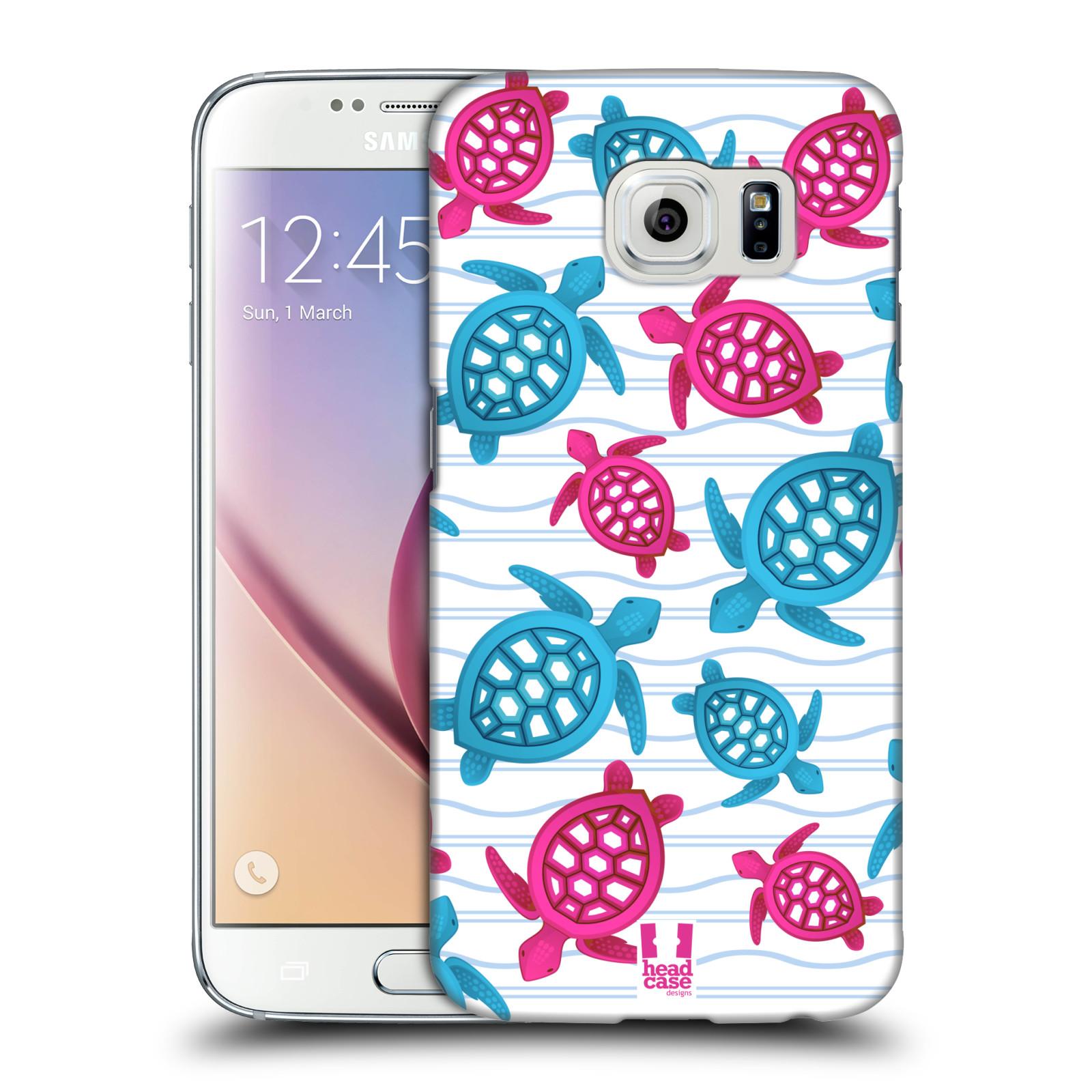 HEAD CASE plastový obal na mobil SAMSUNG Galaxy S6 (G9200, G920F) vzor mořský živočich želva modrá a růžová