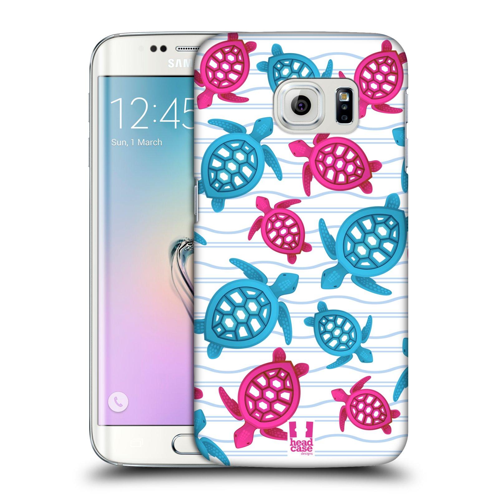 HEAD CASE plastový obal na mobil SAMSUNG Galaxy S6 EDGE (G9250, G925, G925F) vzor mořský živočich želva modrá a růžová