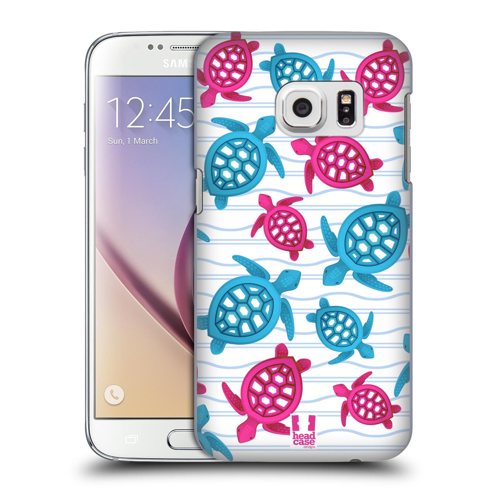 HEAD CASE plastový obal na mobil SAMSUNG GALAXY S7 vzor mořský živočich želva modrá a růžová