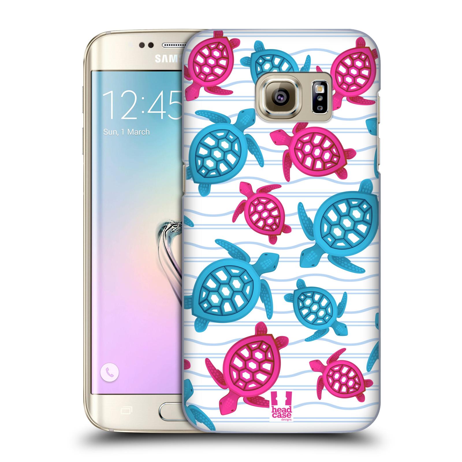 HEAD CASE plastový obal na mobil SAMSUNG GALAXY S7 EDGE vzor mořský živočich želva modrá a růžová