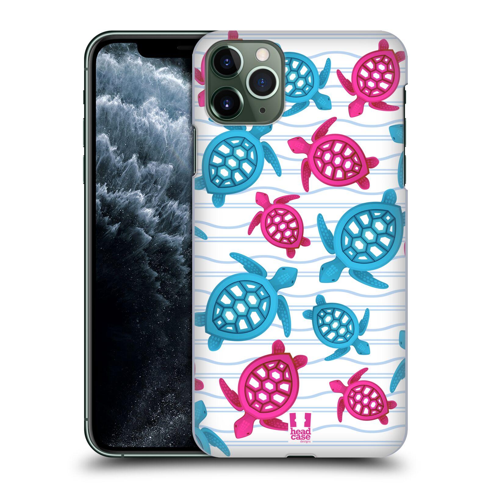 Pouzdro na mobil Apple Iphone 11 PRO MAX - HEAD CASE - vzor mořský živočich želva modrá a růžová