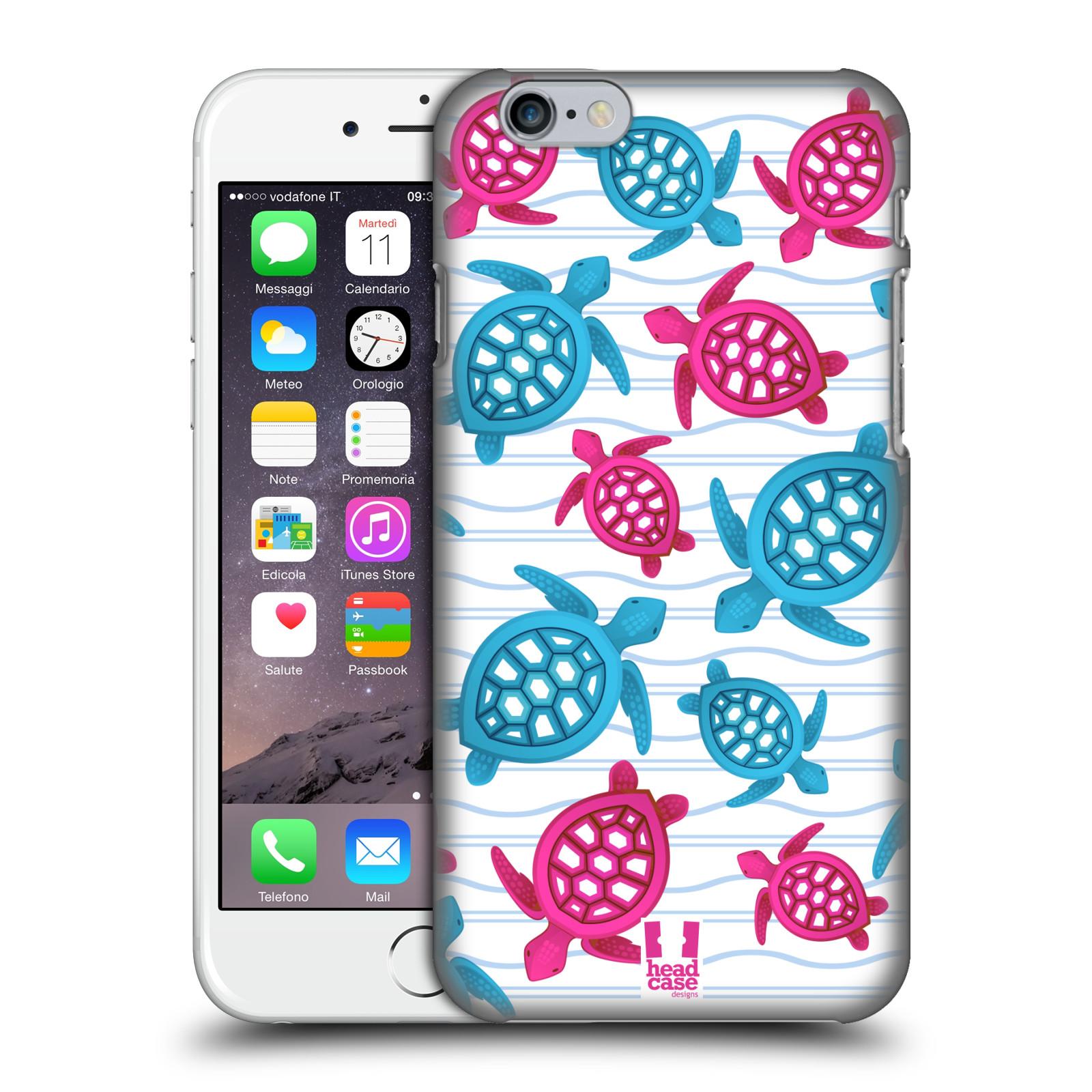 Plastové pouzdro pro mobil Apple Iphone 6/6S vzor mořský živočich želva modrá a růžová