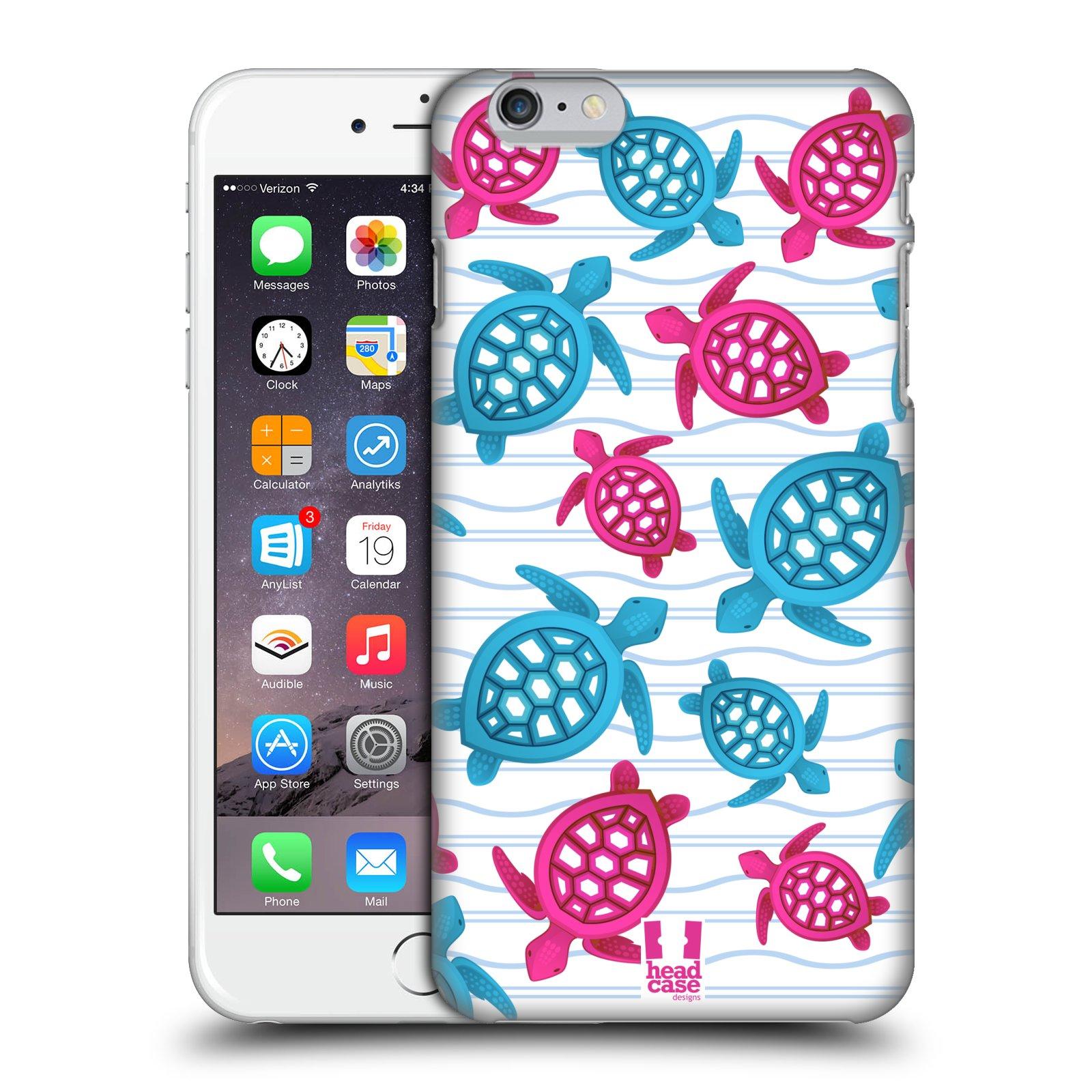 Plastové pouzdro pro mobil Apple Iphone 6 PLUS / 6S PLUS vzor mořský živočich želva modrá a růžová