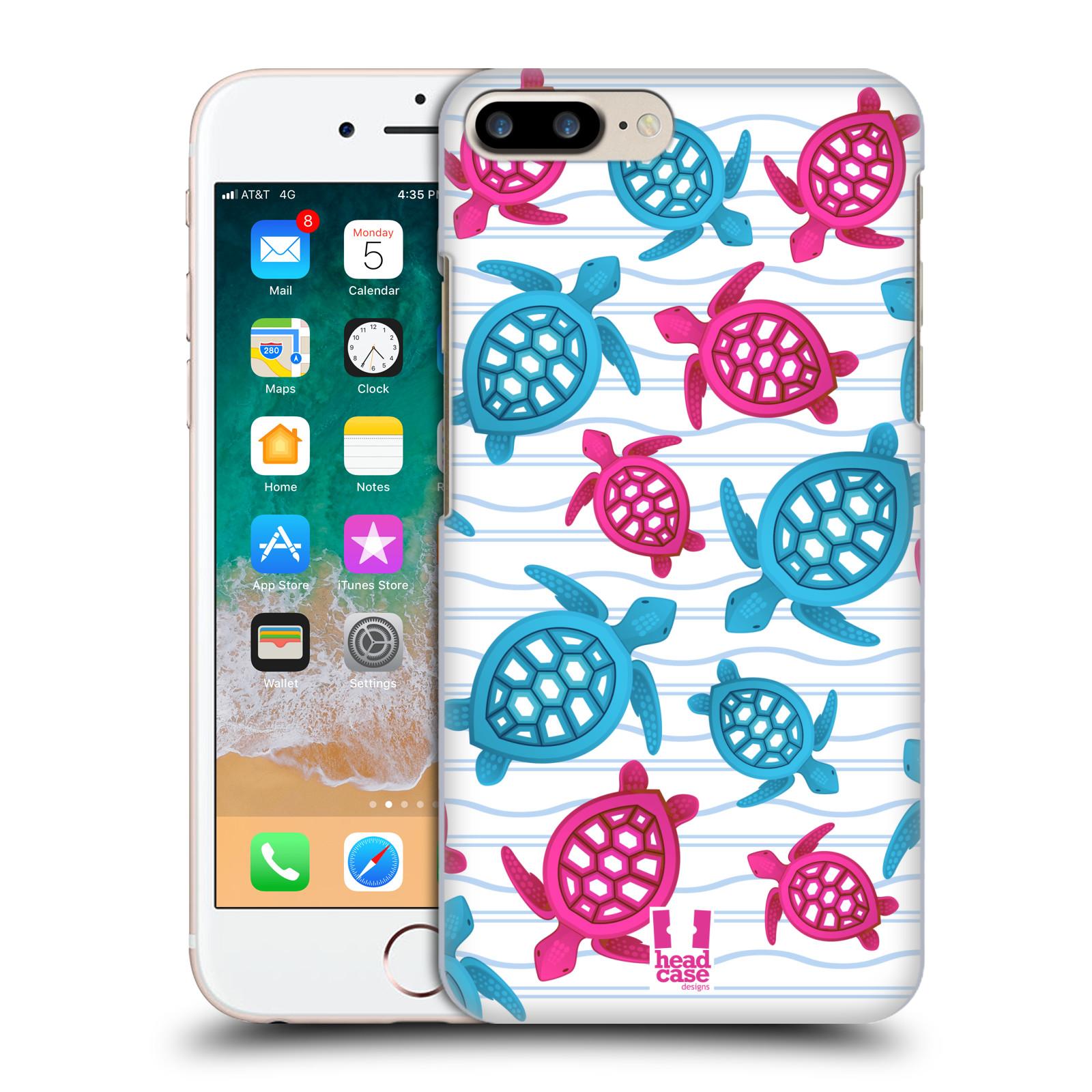 HEAD CASE plastový obal na mobil Apple Iphone 7 PLUS vzor mořský živočich želva modrá a růžová