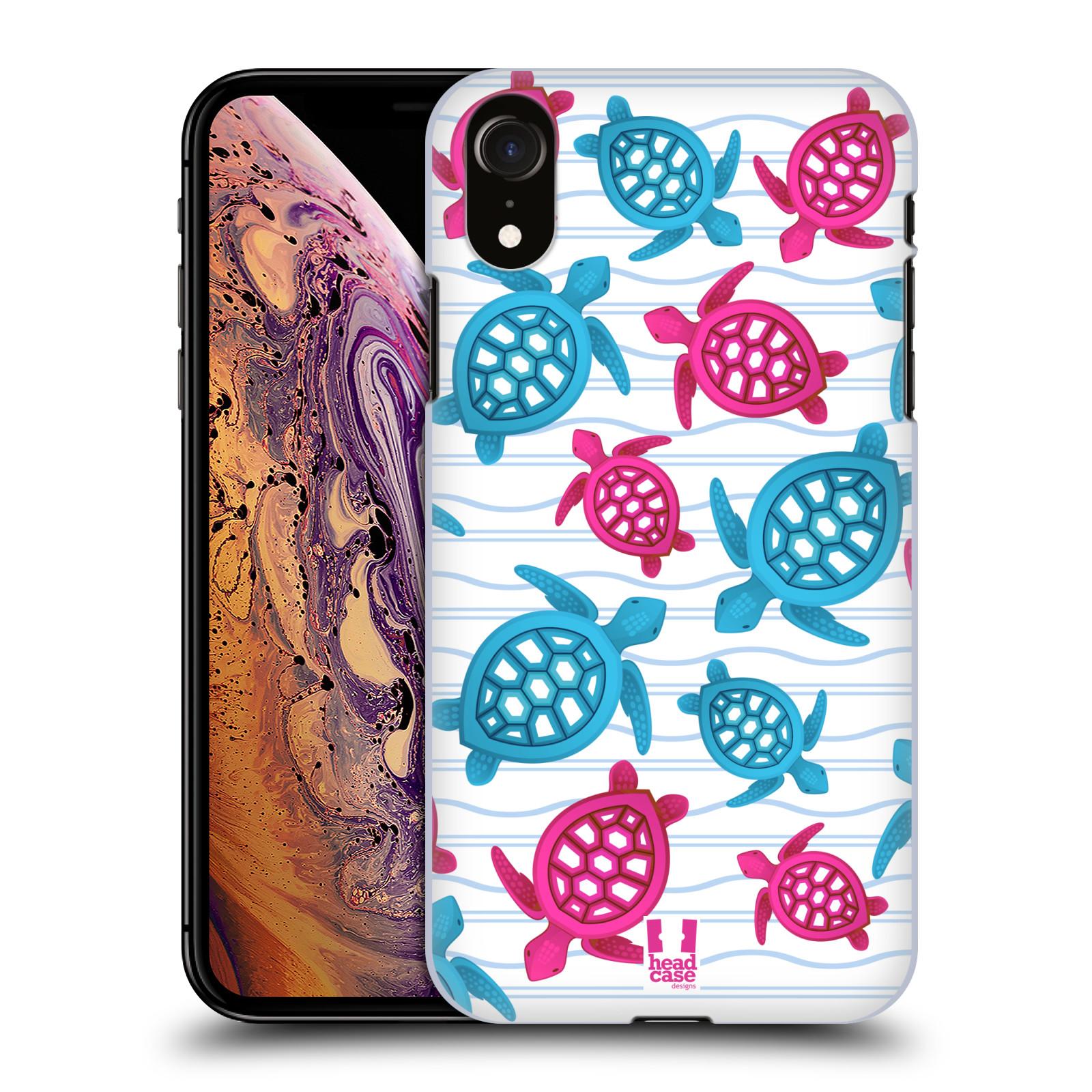 HEAD CASE plastový obal na mobil Apple Iphone XR vzor mořský živočich želva modrá a růžová