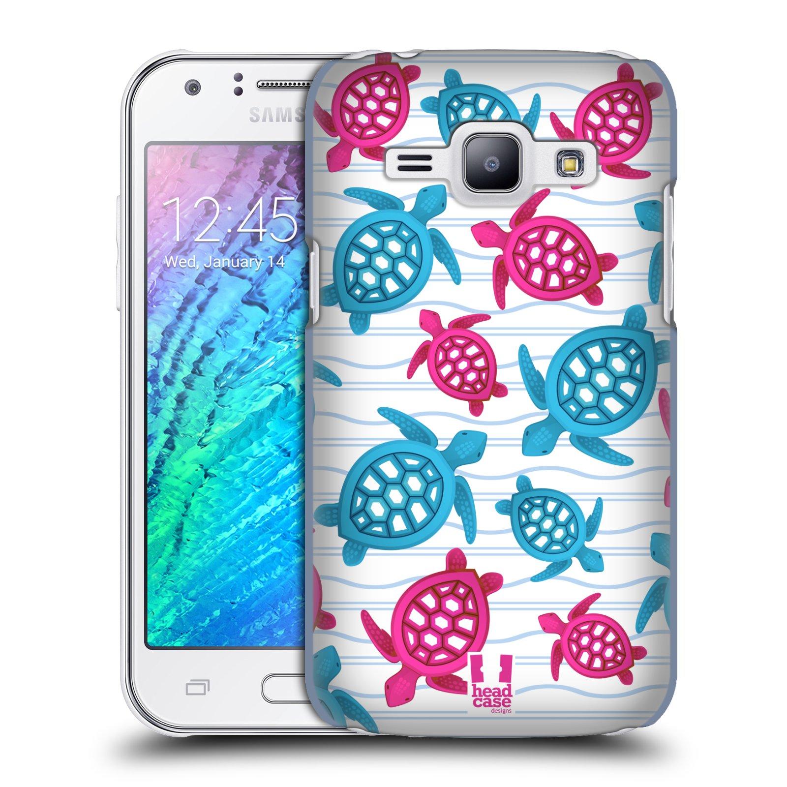 HEAD CASE plastový obal na mobil SAMSUNG Galaxy J1, J100 vzor mořský živočich želva modrá a růžová