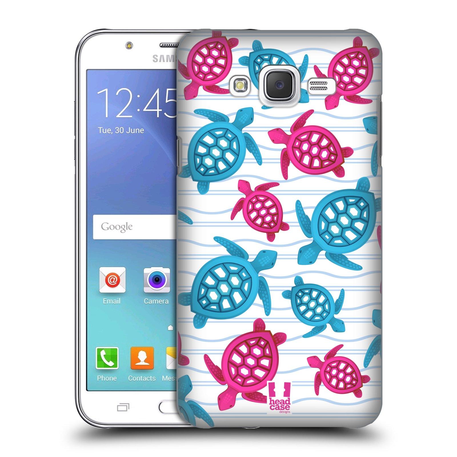HEAD CASE plastový obal na mobil SAMSUNG Galaxy J5, J500 vzor mořský živočich želva modrá a růžová