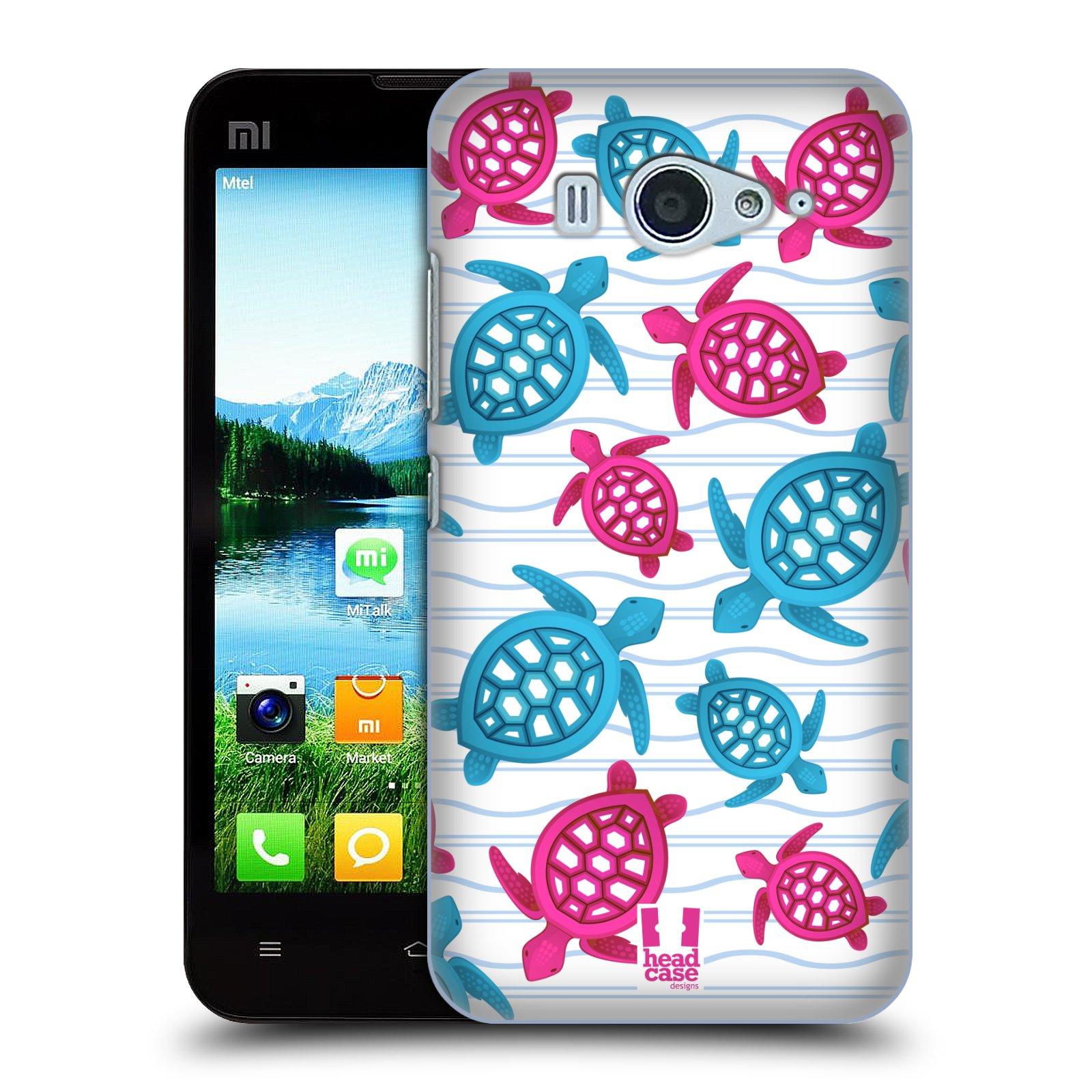 HEAD CASE pevný plastový obal na mobil XIAOMI MI2s vzor mořský živočich želva modrá a růžová