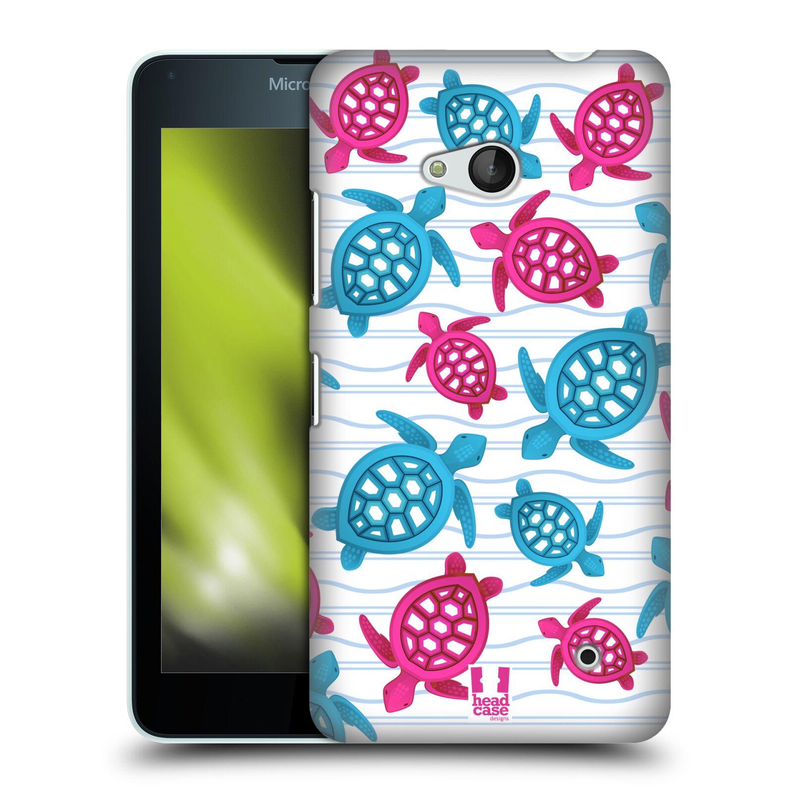 HEAD CASE plastový obal na mobil Nokia Lumia 640 vzor mořský živočich želva modrá a růžová