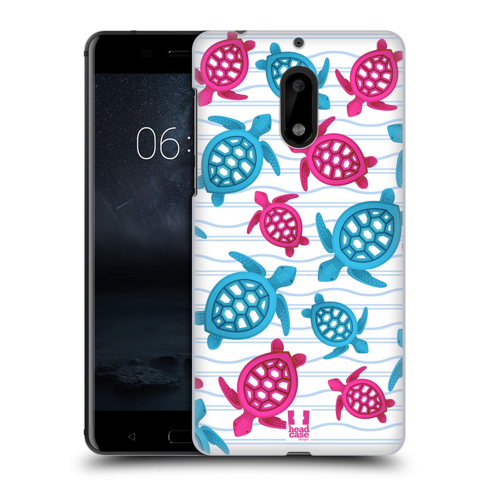 HEAD CASE plastový obal na mobil Nokia 6 vzor mořský živočich želva modrá a růžová