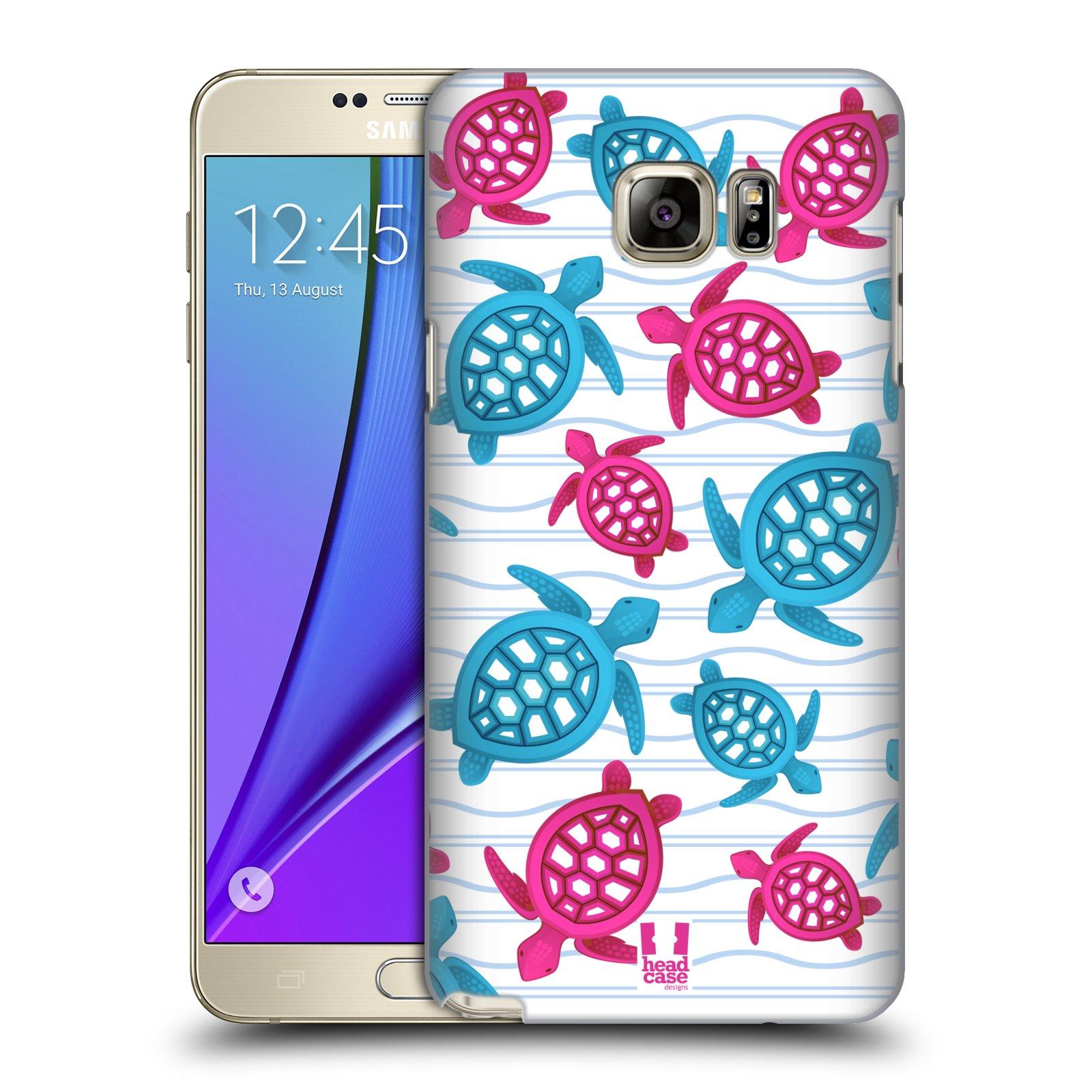 HEAD CASE plastový obal na mobil SAMSUNG Galaxy Note 5 (N920) vzor mořský živočich želva modrá a růžová