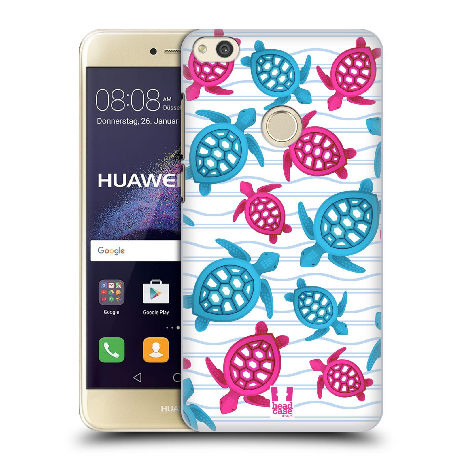 HEAD CASE silikonový obal na mobil Huawei P8 LITE 2017 vzor mořský živočich želva modrá a růžová