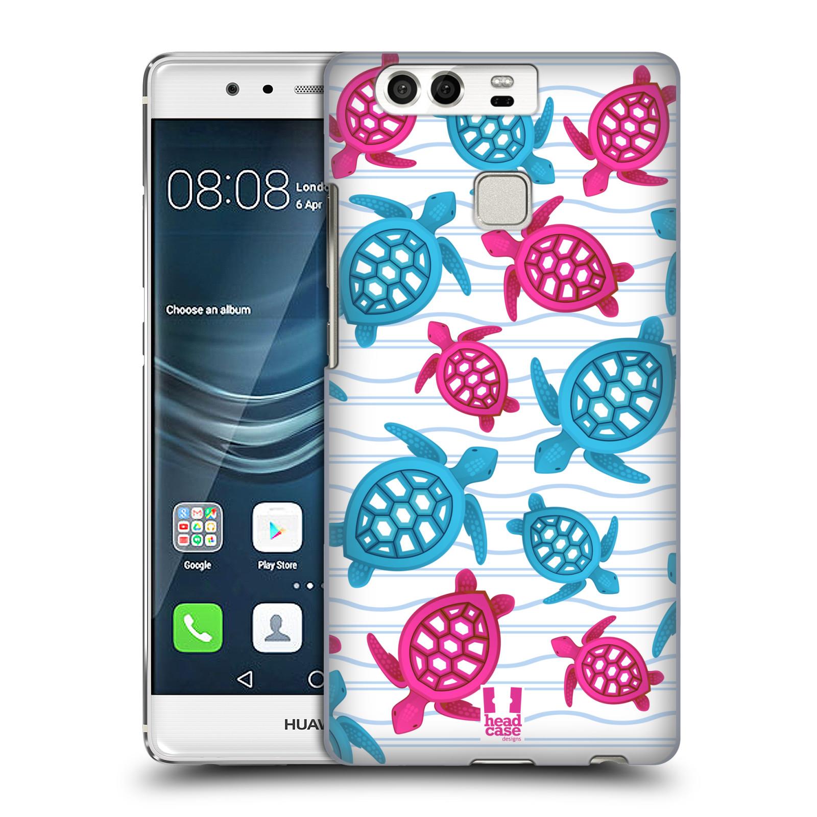 HEAD CASE plastový obal na mobil Huawei P9 / P9 DUAL SIM vzor mořský živočich želva modrá a růžová