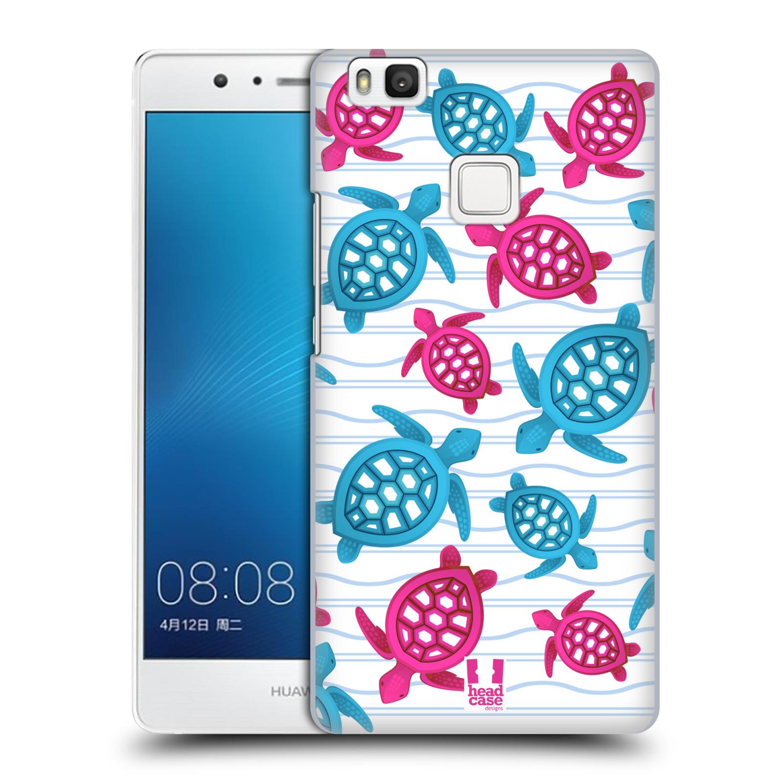 HEAD CASE plastový obal na mobil Huawei P9 LITE / P9 LITE DUAL SIM vzor mořský živočich želva modrá a růžová