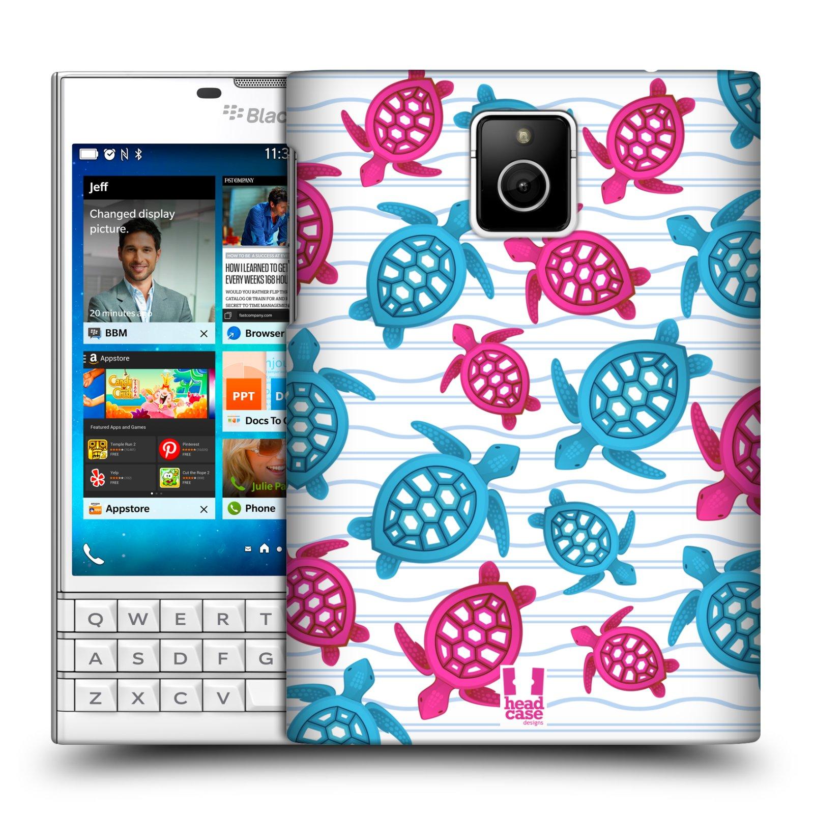 HEAD CASE plastový obal na mobil BlackBerry Passport vzor mořský živočich želva modrá a růžová