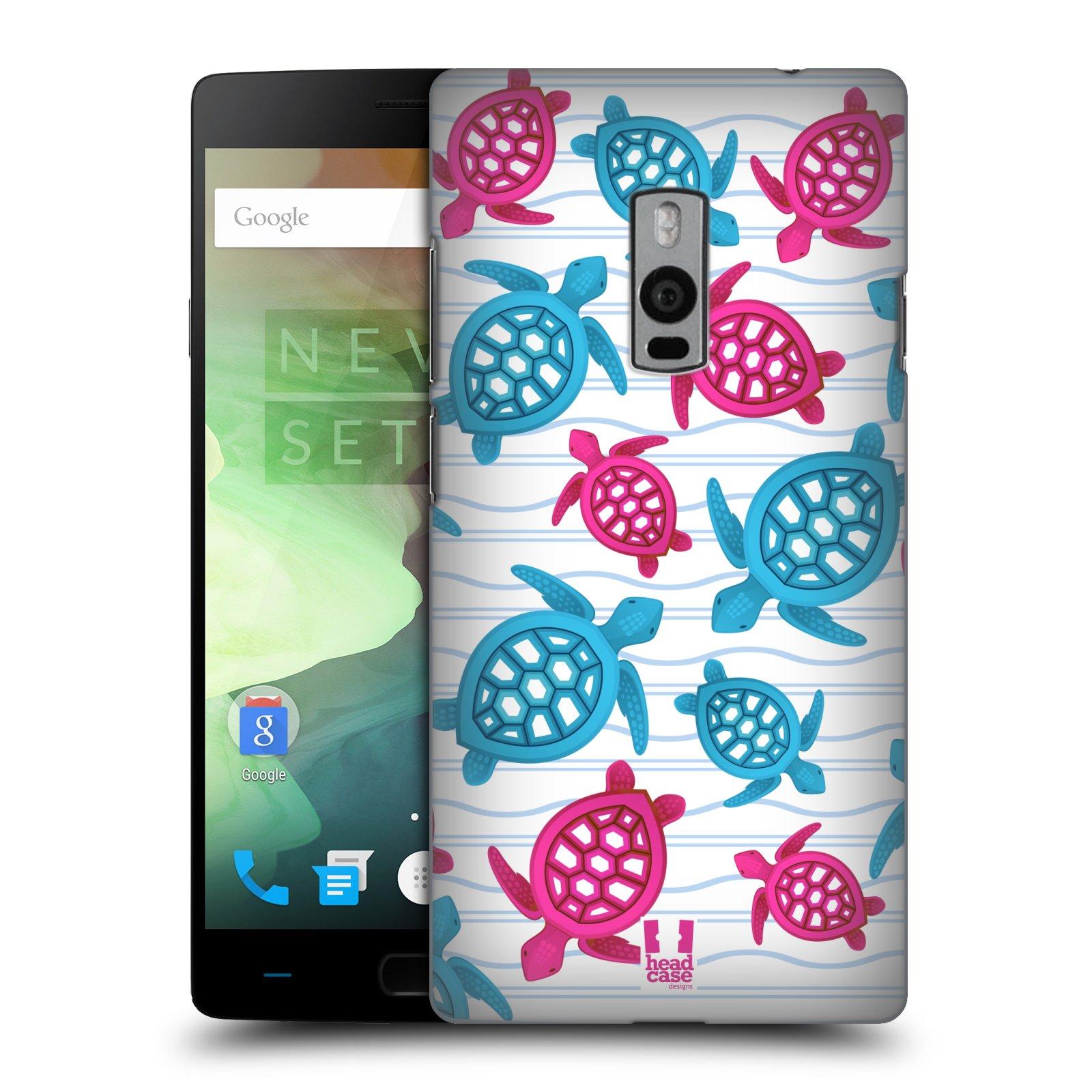 HEAD CASE pevný plastový obal na mobil OnePlus 2  ( TWO ) vzor mořský živočich želva modrá a růžová