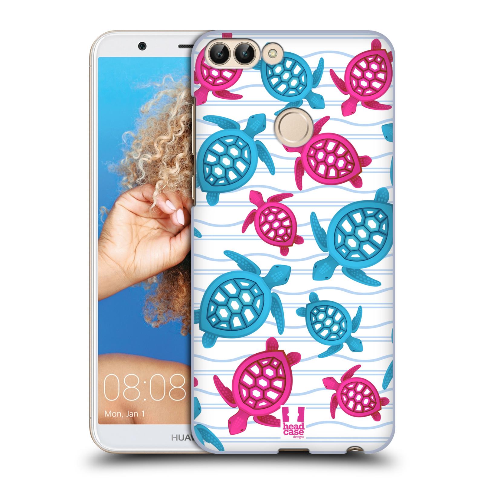 HEAD CASE plastový obal na mobil Huawei P Smart vzor mořský živočich želva modrá a růžová