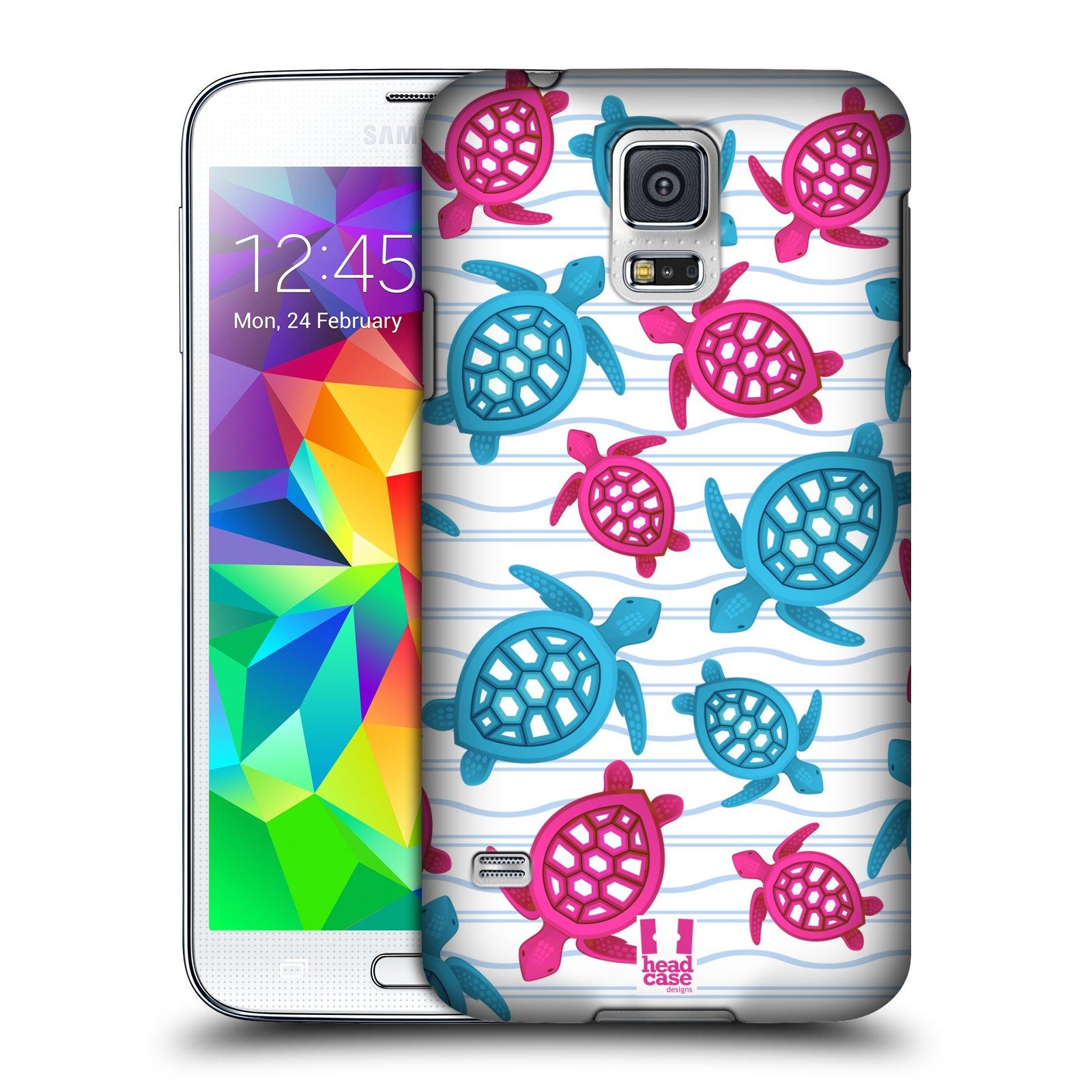 HEAD CASE plastový obal na mobil SAMSUNG Galaxy SS / S5 NEO (G900, G903F) vzor mořský živočich želva modrá a růžová