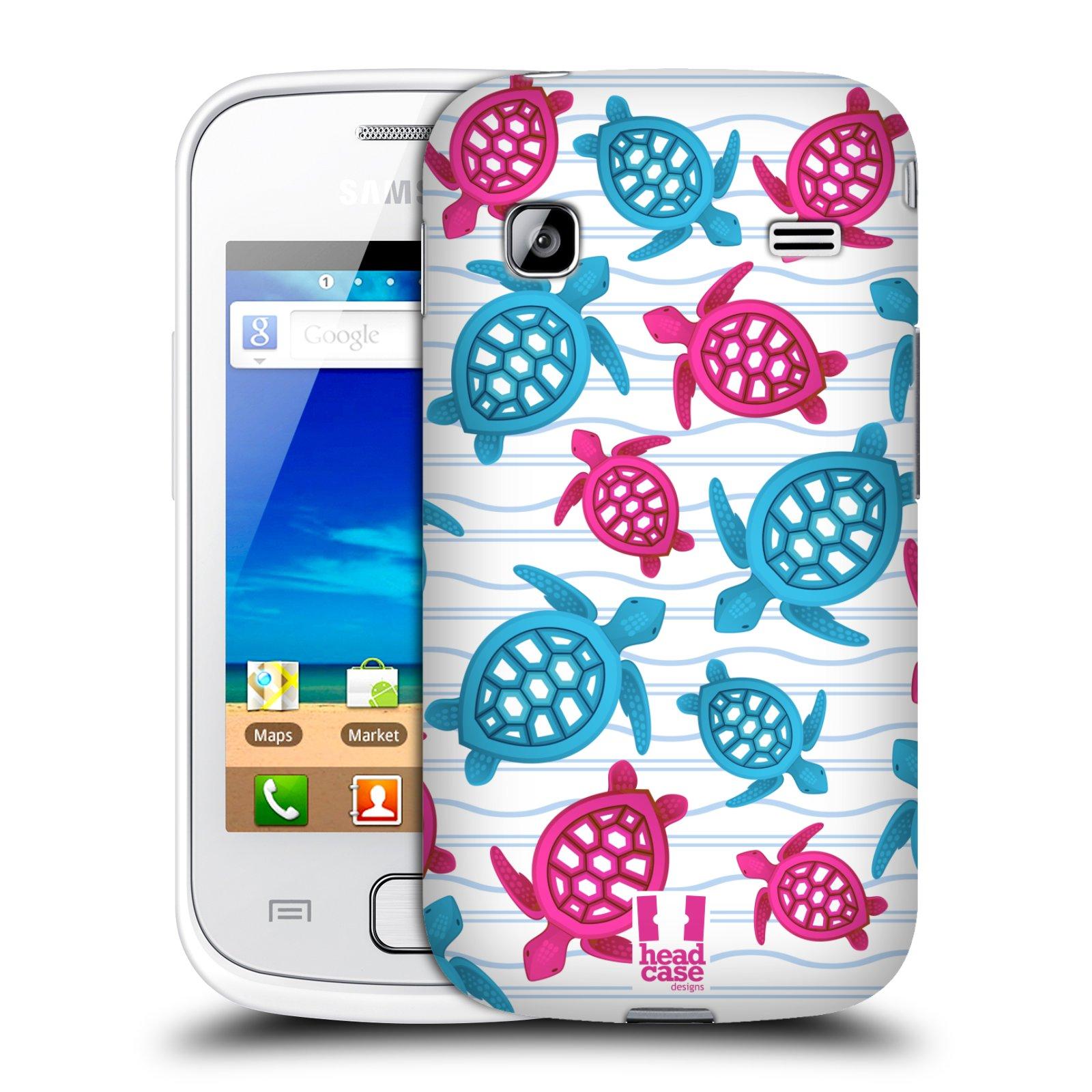 HEAD CASE plastový obal na mobil SAMSUNG GALAXY GIO (S5660) vzor mořský živočich želva modrá a růžová