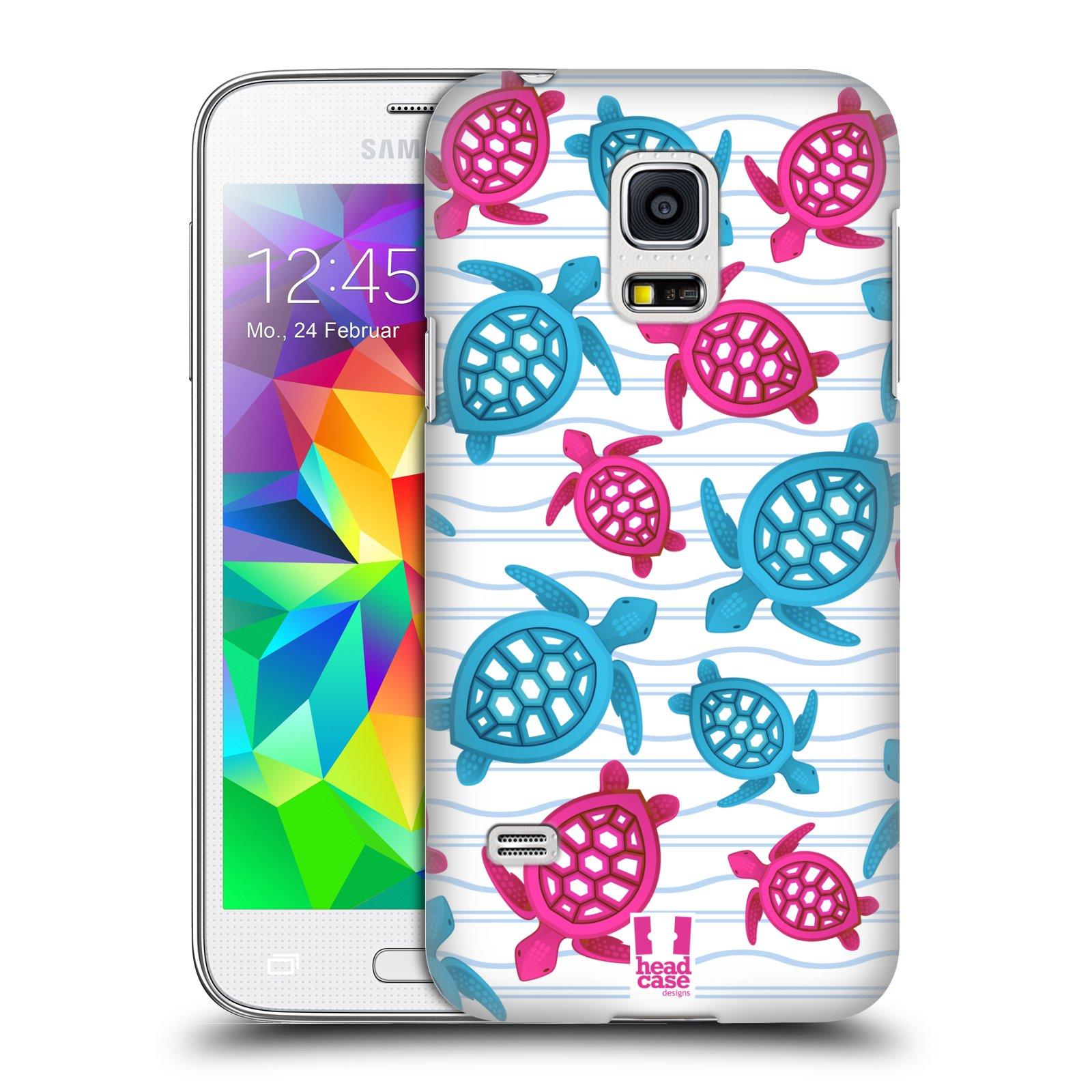 HEAD CASE plastový obal na mobil SAMSUNG Galaxy S5 MINI / S5 MINI DUOS vzor mořský živočich želva modrá a růžová