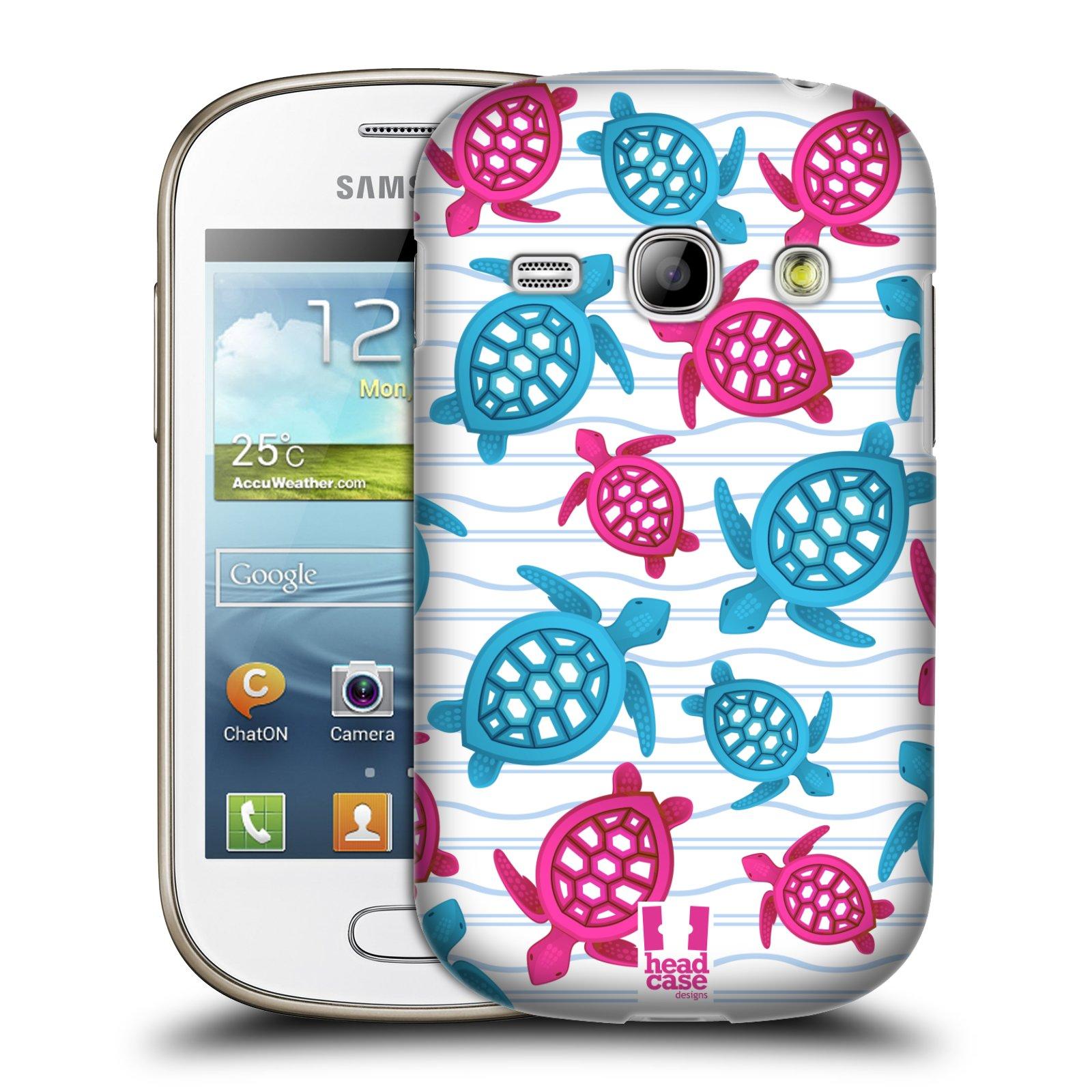 HEAD CASE plastový obal na mobil SAMSUNG GALAXY FAME (S6810) vzor mořský živočich želva modrá a růžová
