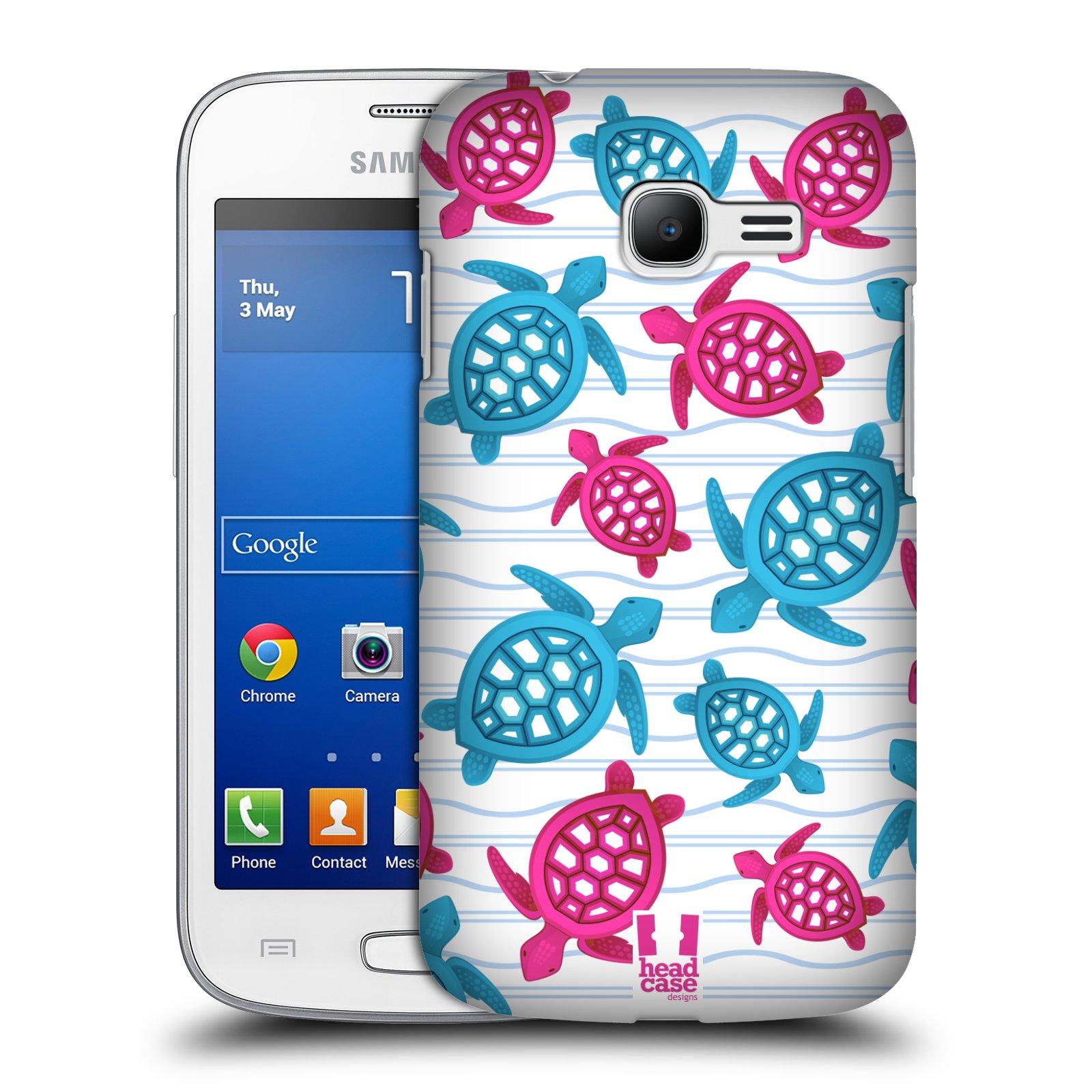 HEAD CASE plastový obal na mobil SAMSUNG GALAXY Star Pro S7260/S7262 DUOS vzor mořský živočich želva modrá a růžová